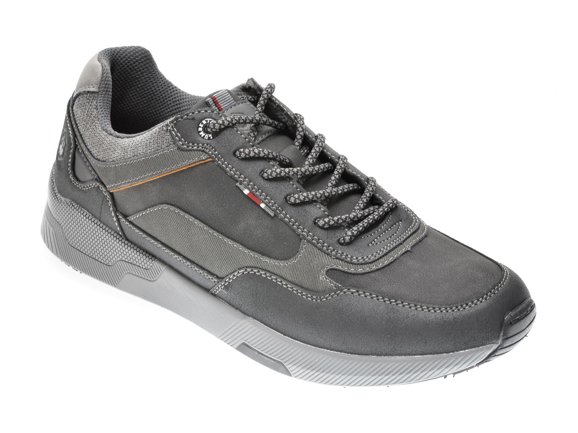 Pantofi sport LUMBERJACK negri, 412004, din piele ecologica imagine