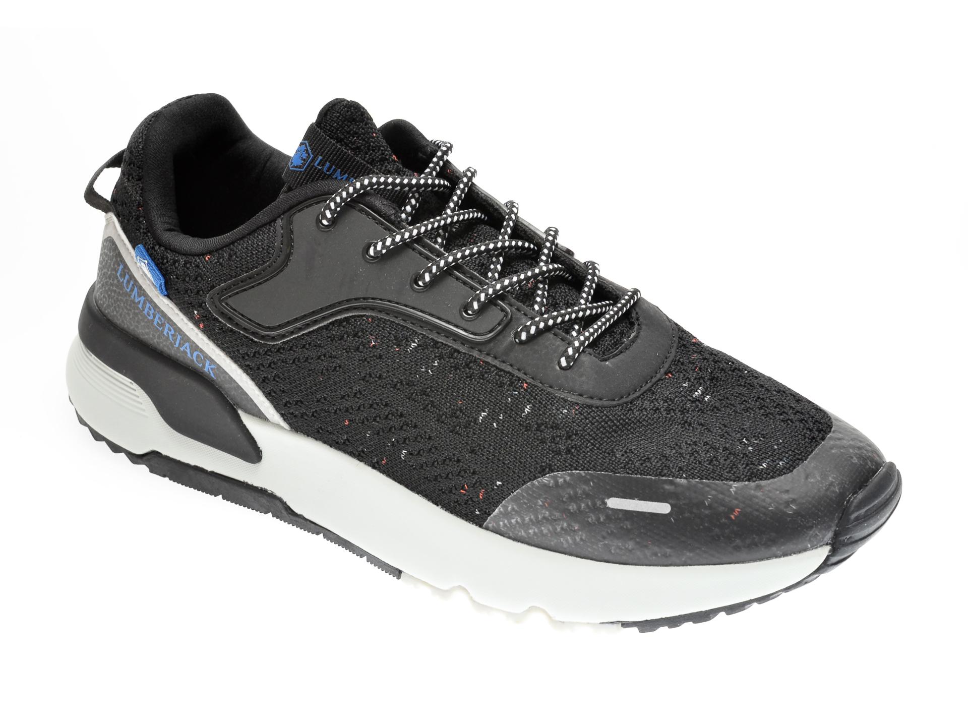 Pantofi sport LUMBERJACK negri, 611001, din material textil imagine