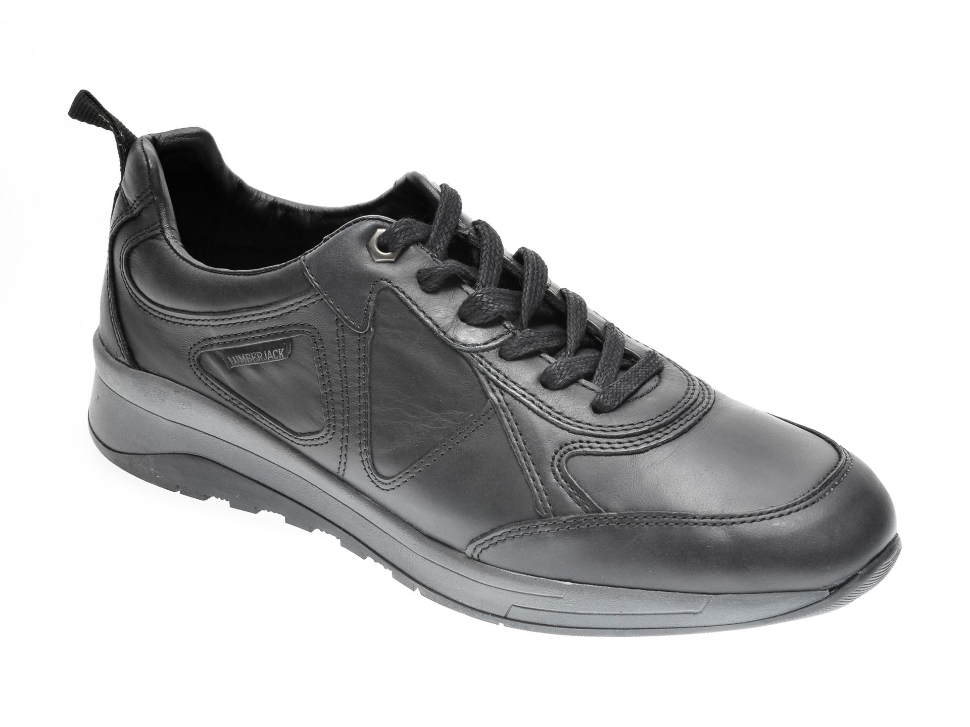 Pantofi sport LUMBERJACK negri, 712001, din piele naturala imagine otter.ro