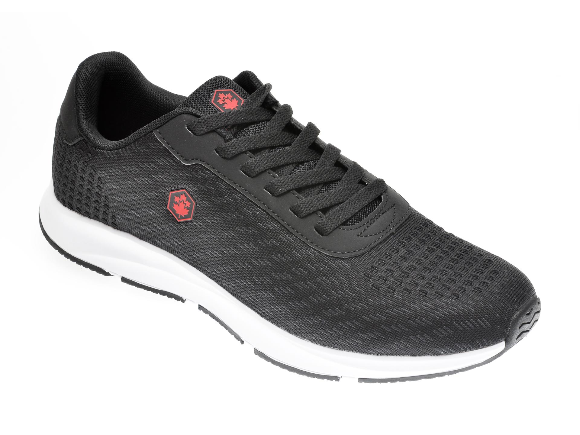 Pantofi sport LUMBERJACK negri, 811001, din material textil New