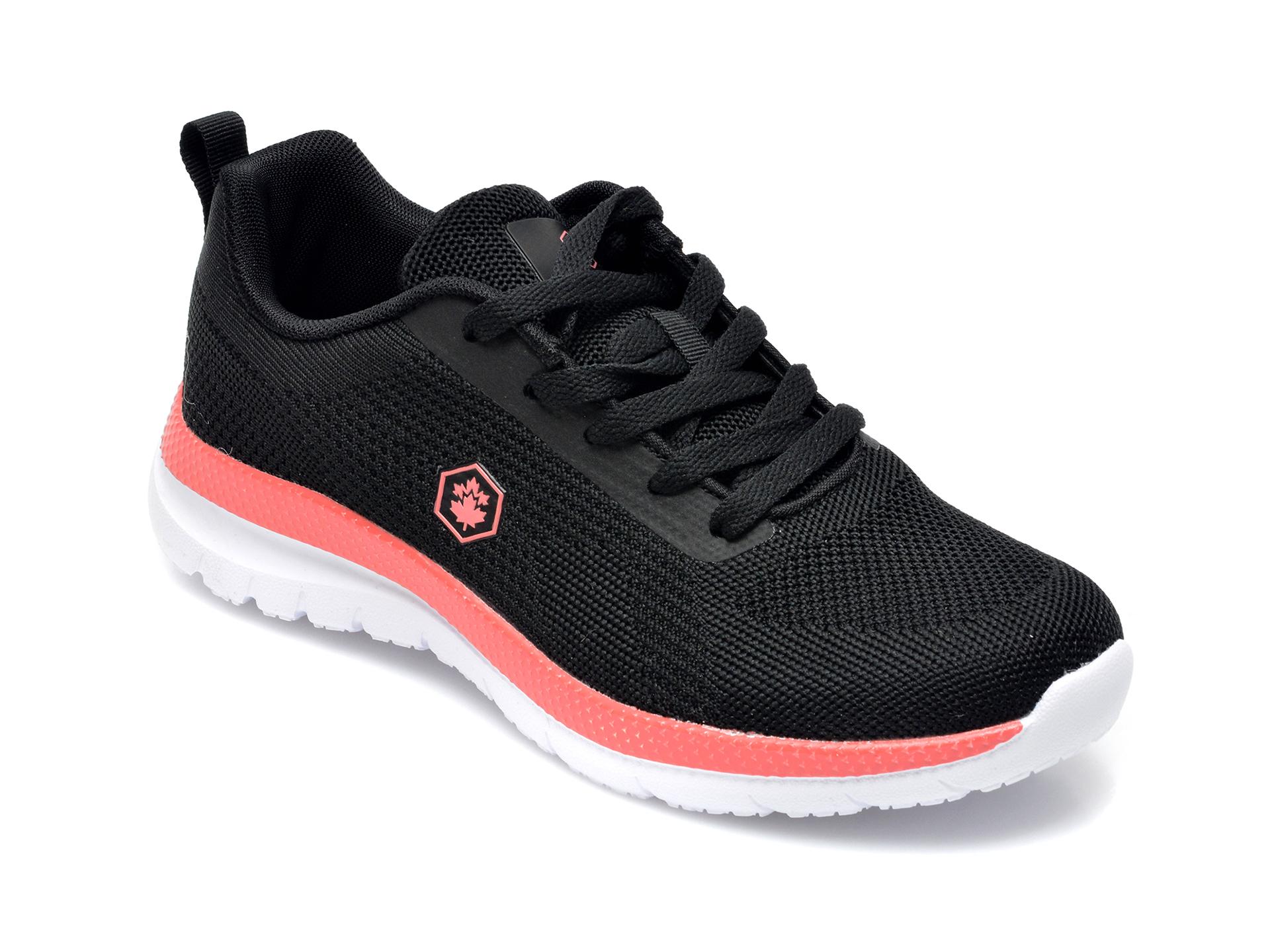 Pantofi sport LUMBERJACK negri, B231001, din material textil