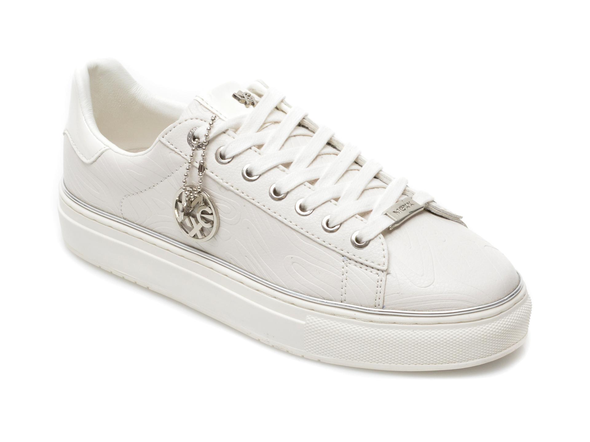 Pantofi sport MEXX albi, QP0319, din piele ecologica