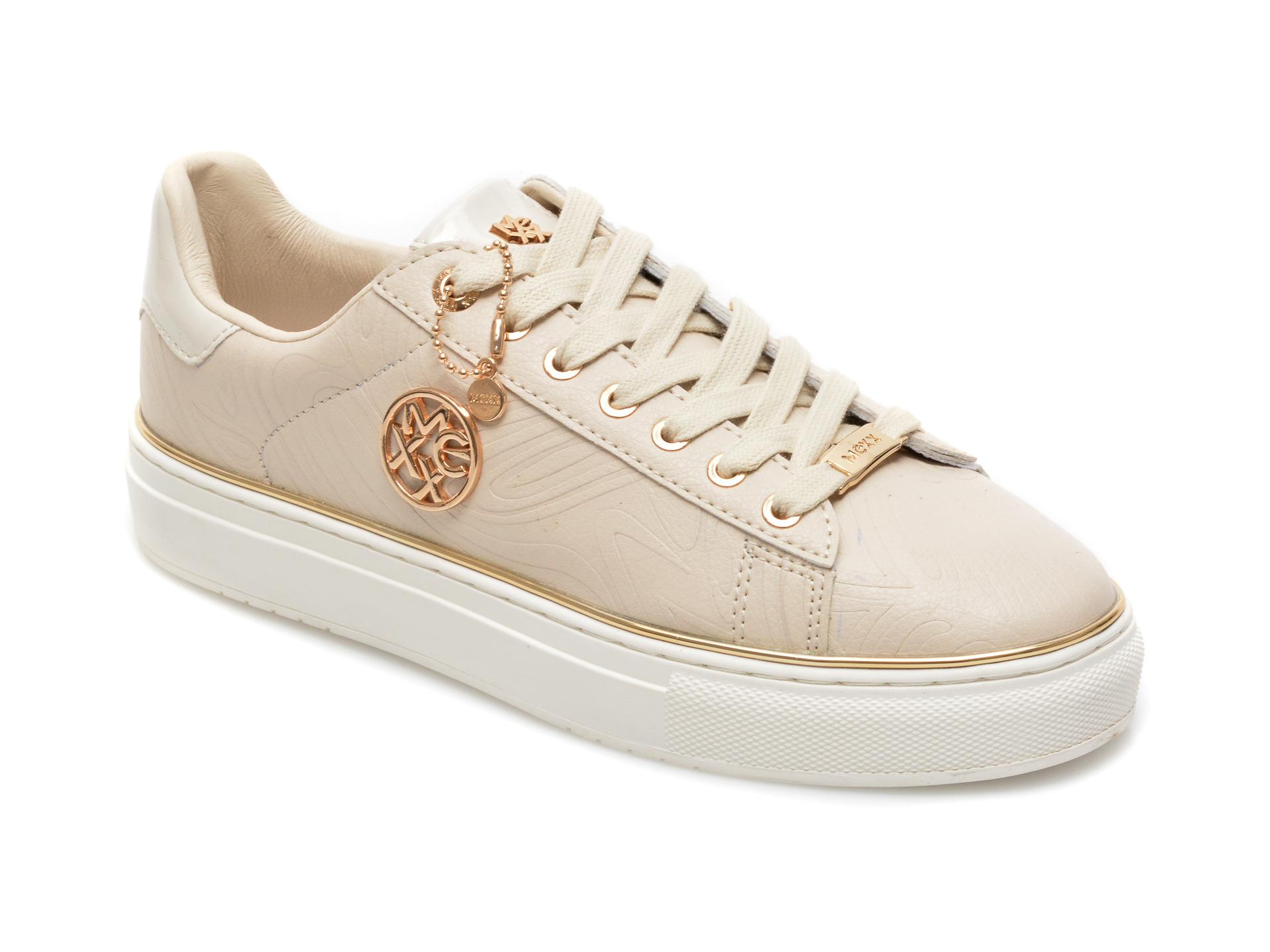 Pantofi sport MEXX bej, QP0319, din piele ecologica