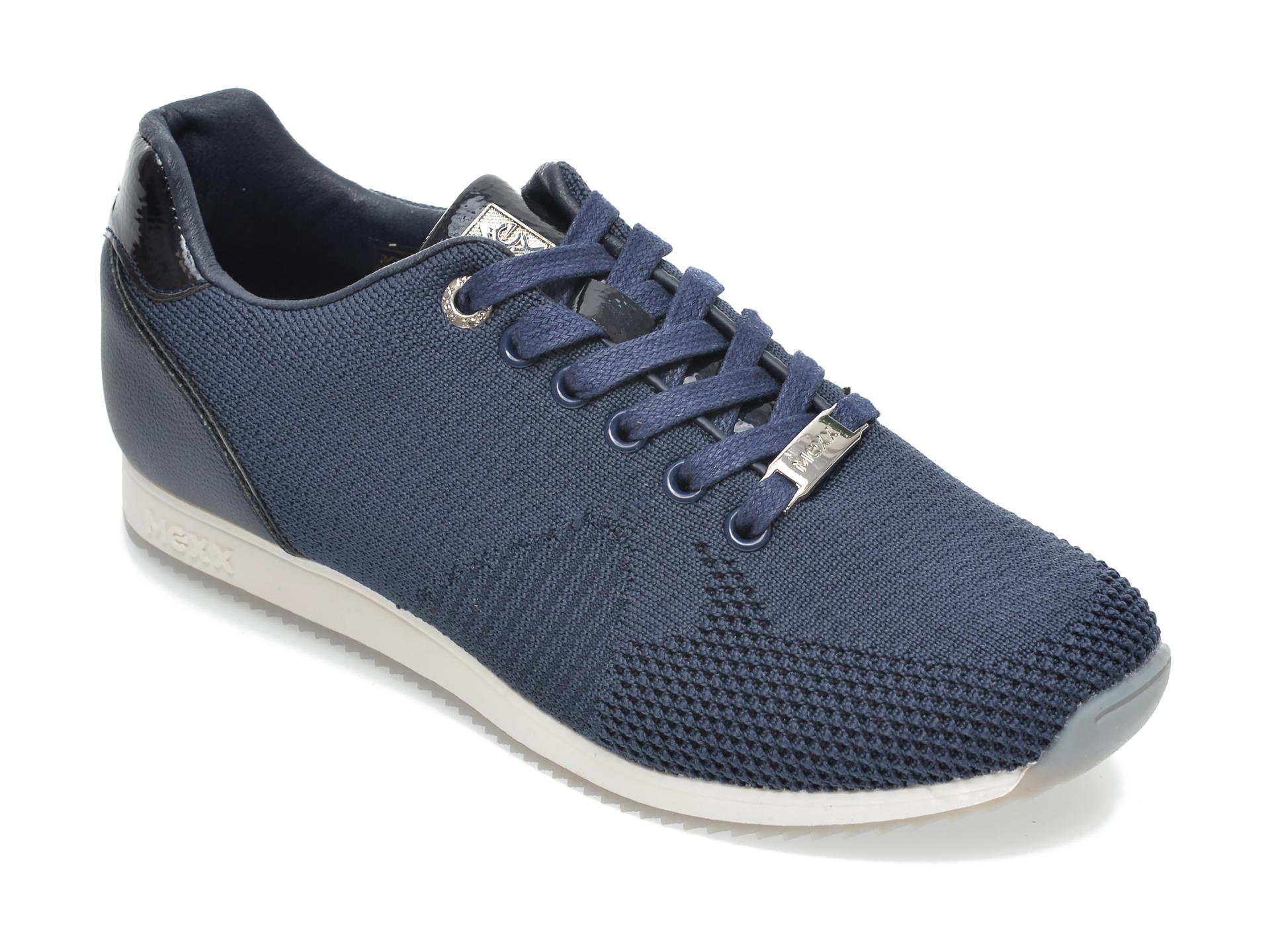 Pantofi Sport Mexx Bleumarin, K0181, Din Material Textil Si Piele Ecologica