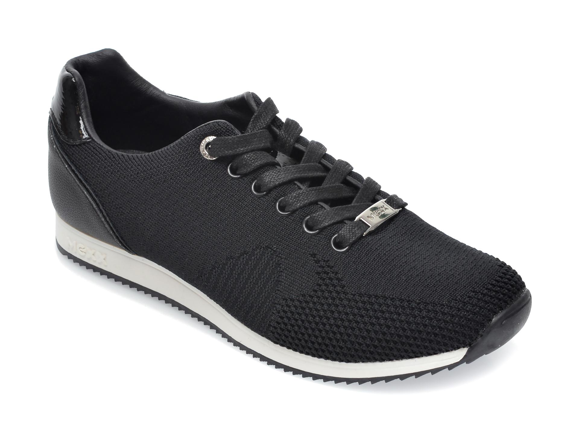 Pantofi sport MEXX negri, K0181, din material textil si piele ecologica