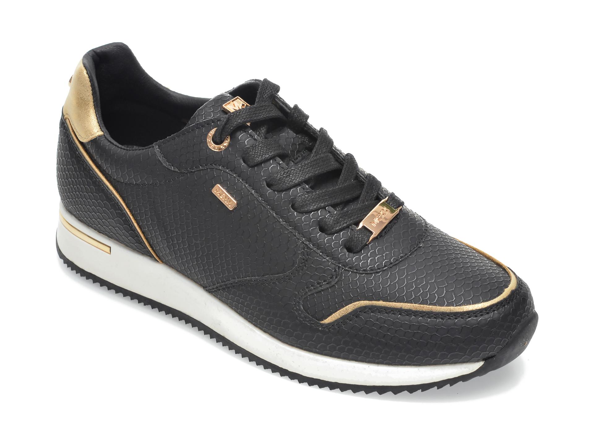 Pantofi sport MEXX negri, K0216, din piele ecologica