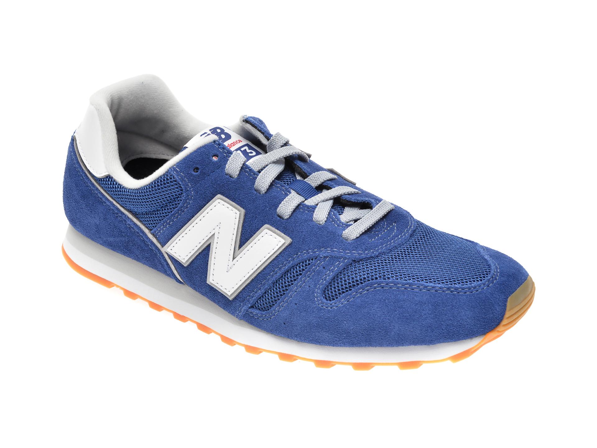 Pantofi sport NEW BALANCE albastri, ML373, din material textil si piele intoarsa imagine