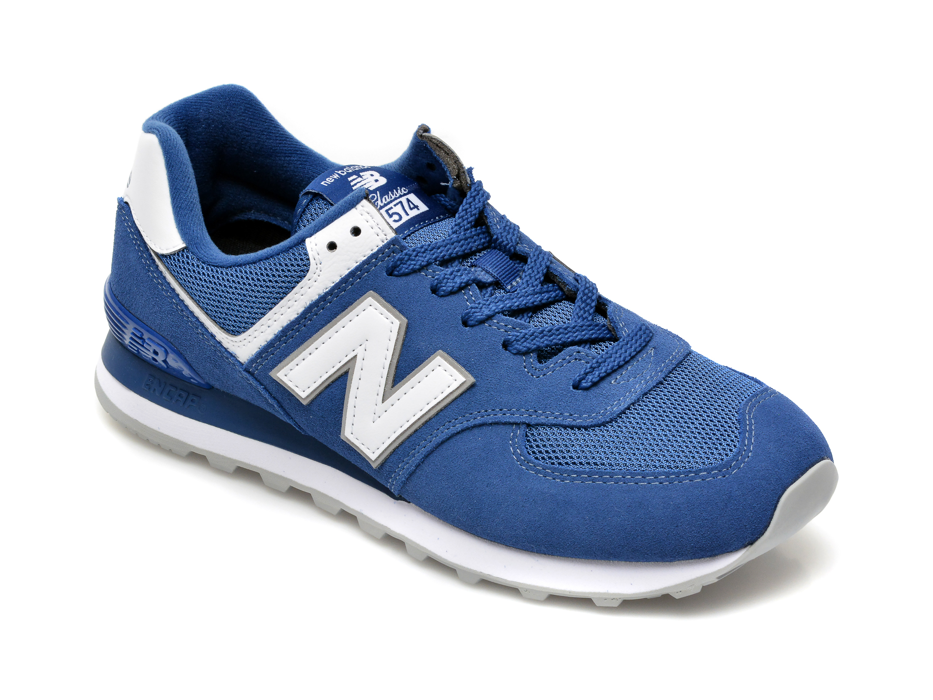 Pantofi sport NEW BALANCE albastri, ML574, din material textil si piele intoarsa imagine