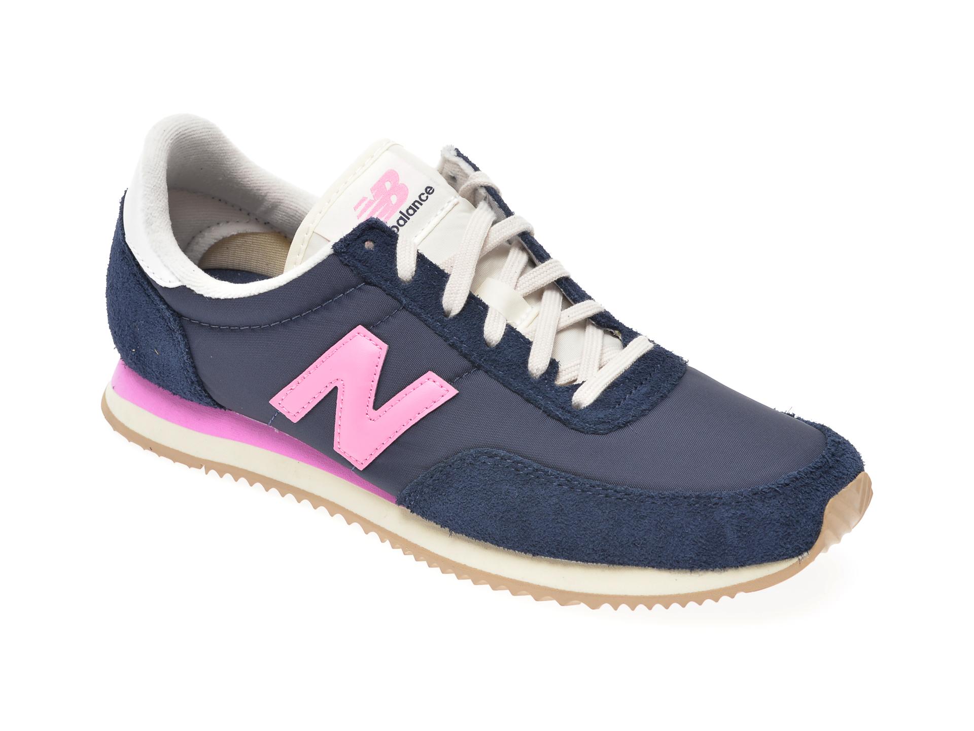 Pantofi sport NEW BALANCE albastri, WL720, din material textil si piele intoarsa