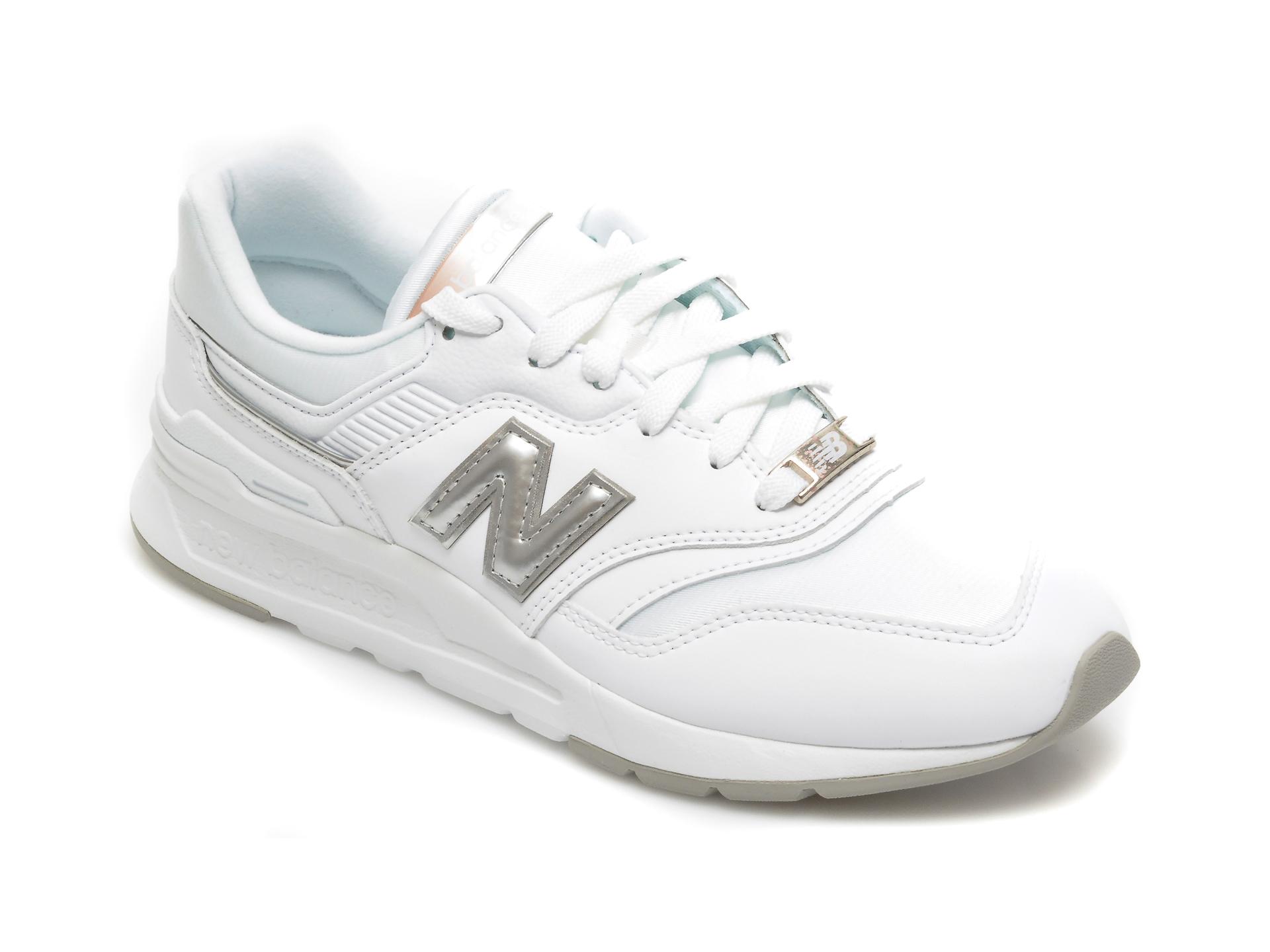 Pantofi sport NEW BALANCE albi, CW997, din material textil si piele naturala imagine otter.ro