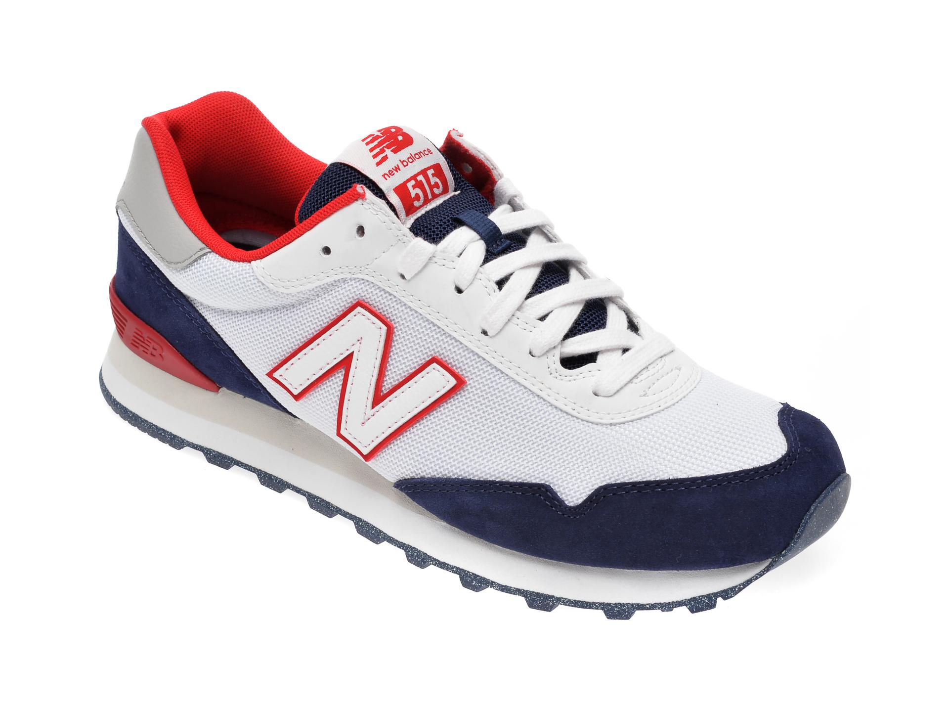 Pantofi sport NEW BALANCE albi, ML515, din material textil si piele intoarsa imagine