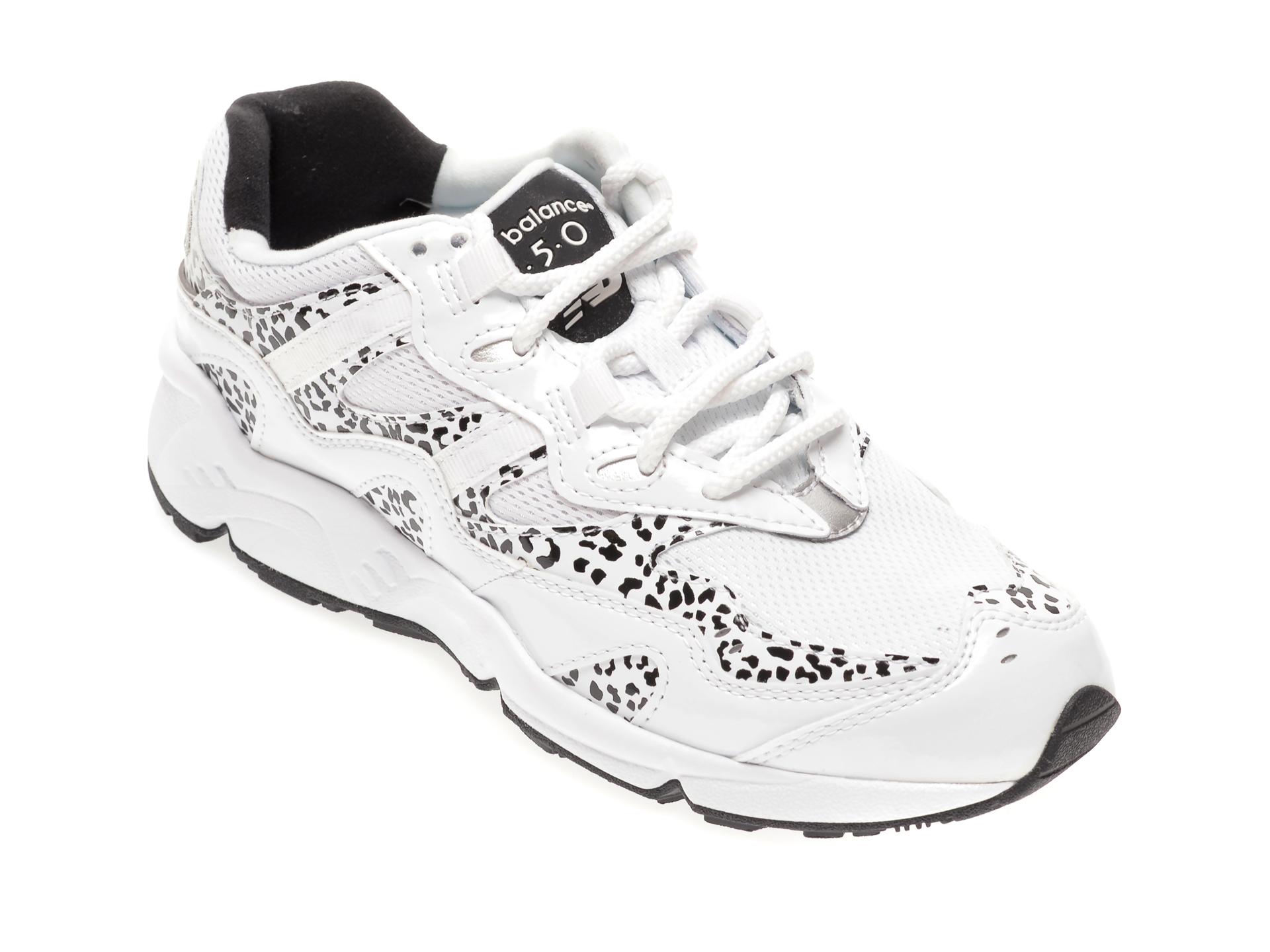 Pantofi sport NEW BALANCE albi, WL850, din material textil si piele ecologica imagine