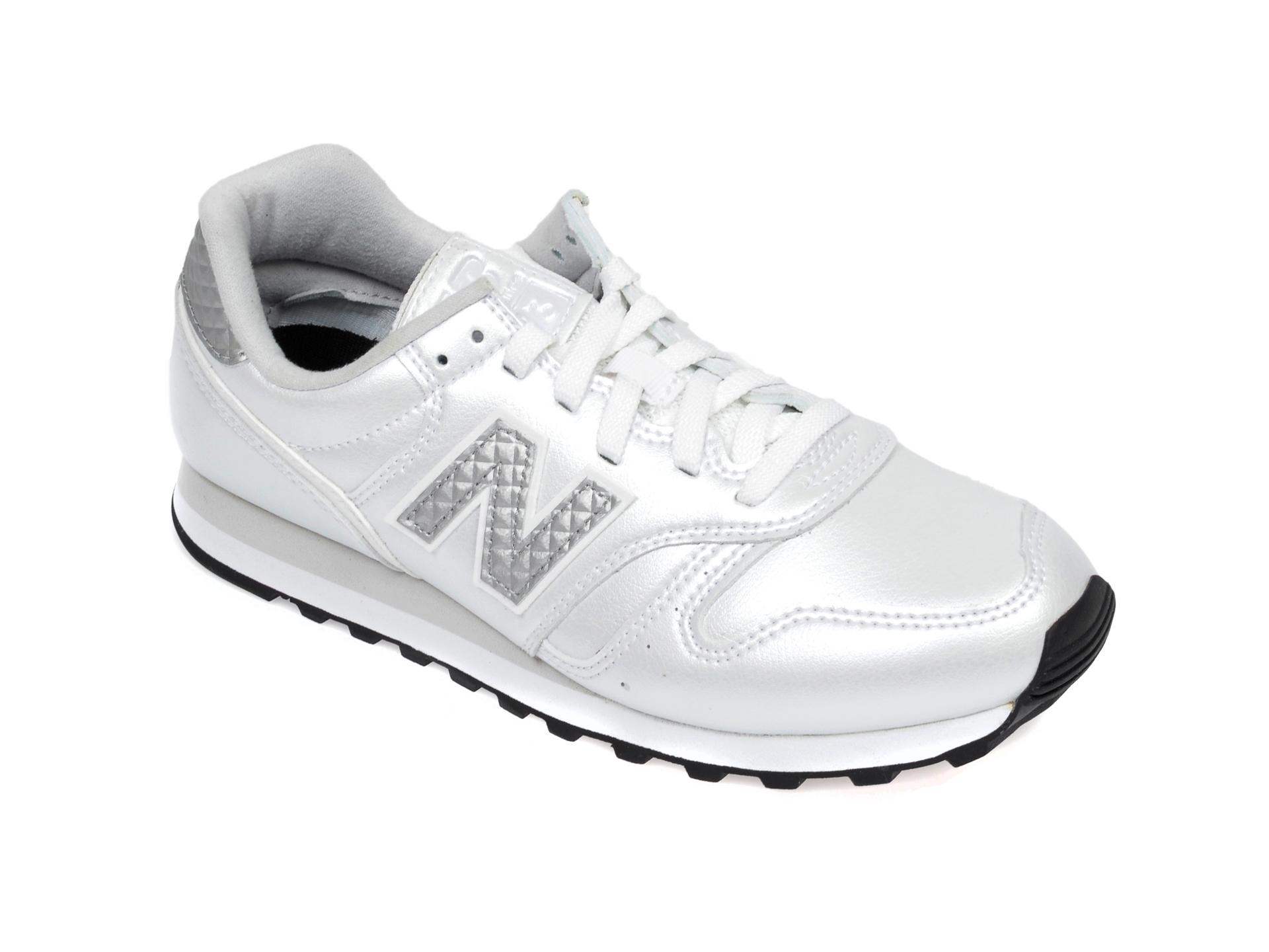 Pantofi sport NEW BALANCE argintii, WL373, din piele ecologica