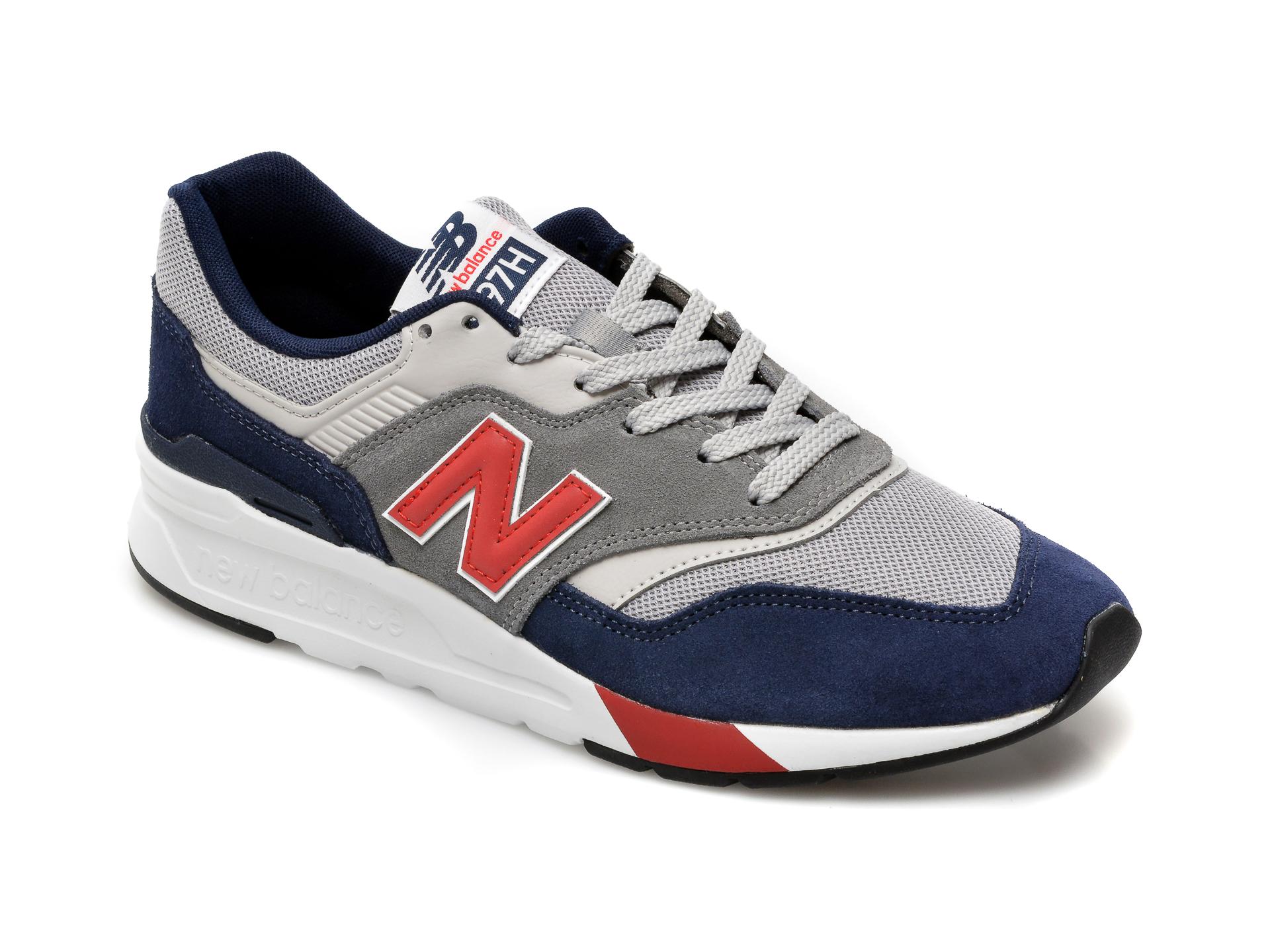 Pantofi sport NEW BALANCE bleumarin, CM997, din material textil si piele intoarsa imagine