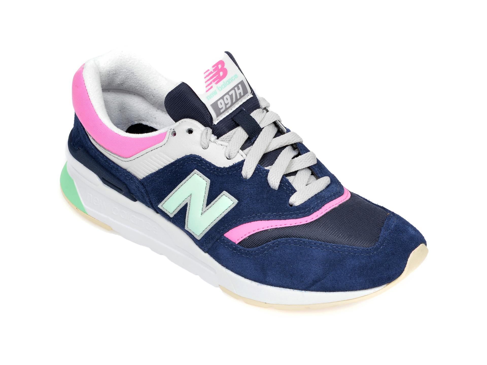 Pantofi sport NEW BALANCE bleumarin, CW997, din material textil si piele intoarsa imagine