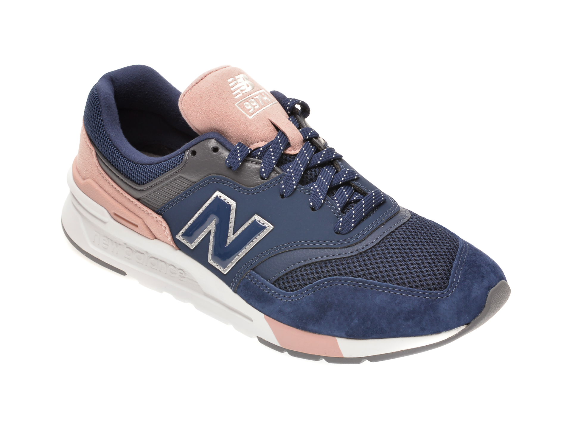 Pantofi sport NEW BALANCE bleumarin, CW997, din material textil si piele intoarsa imagine otter.ro