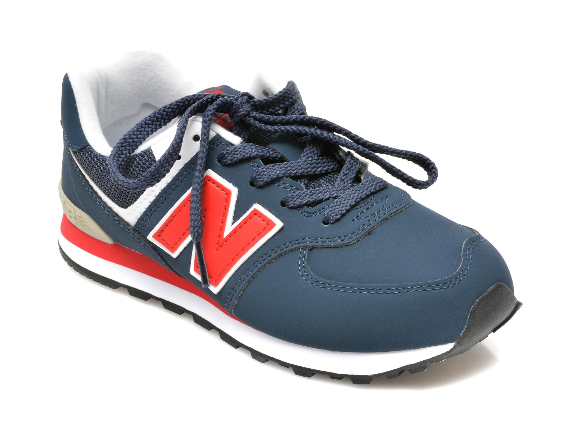 Pantofi sport NEW BALANCE bleumarin, GC574, din material textil si piele ecologica