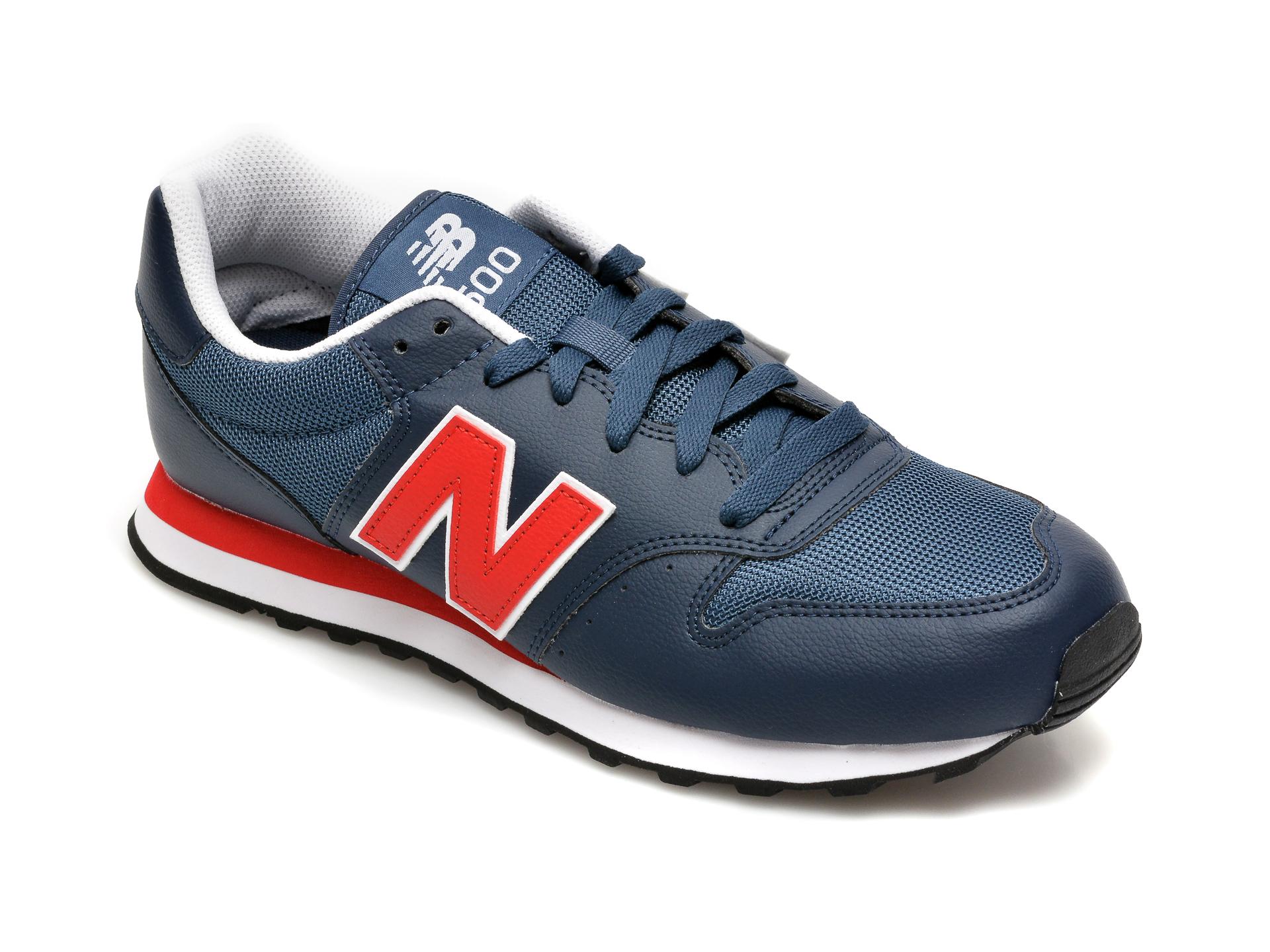 Pantofi sport NEW BALANCE bleumarin, GM500, din material textil si piele ecologica imagine
