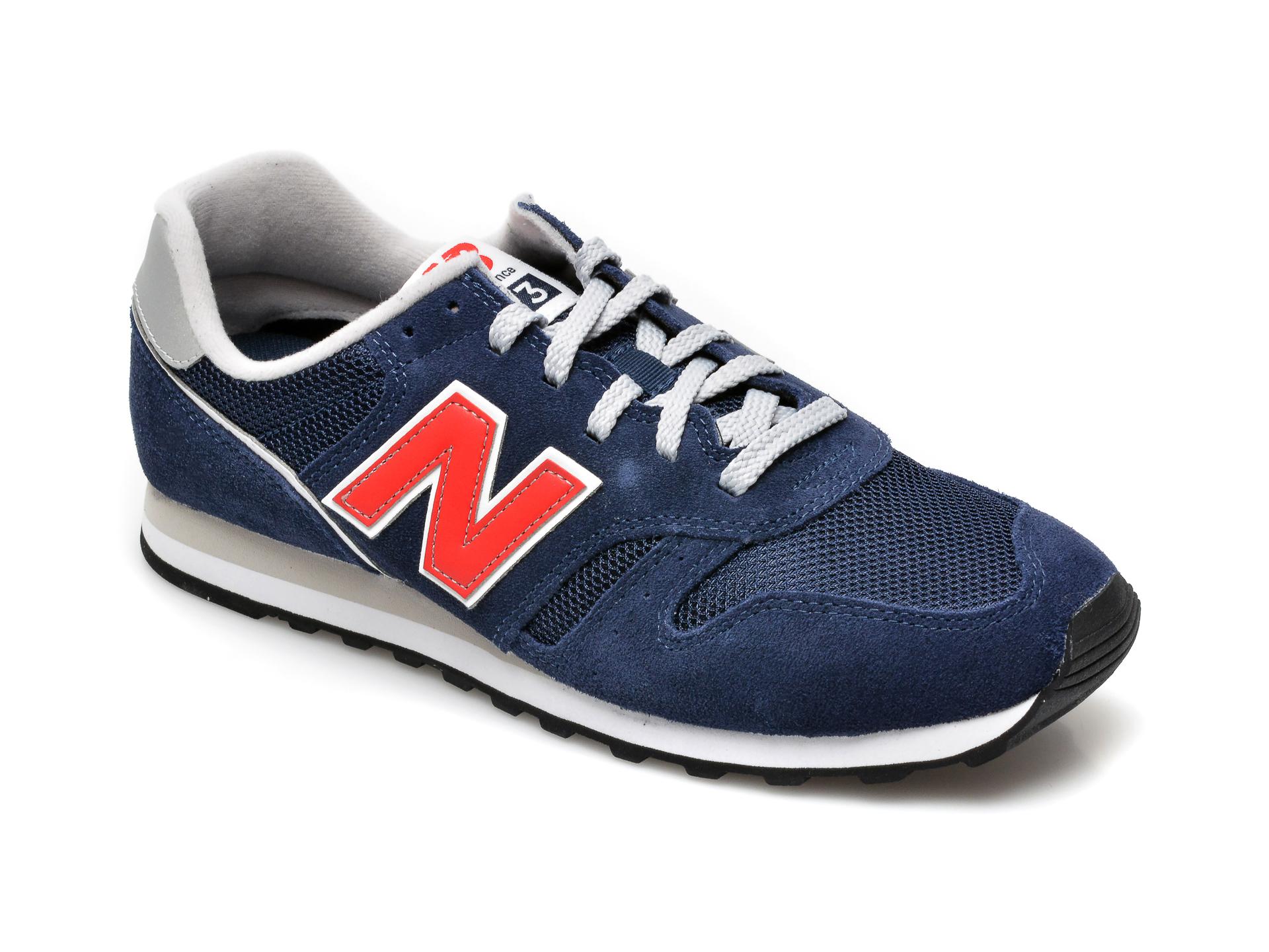 Pantofi sport NEW BALANCE bleumarin, ML373, din material textil si piele intoarsa imagine