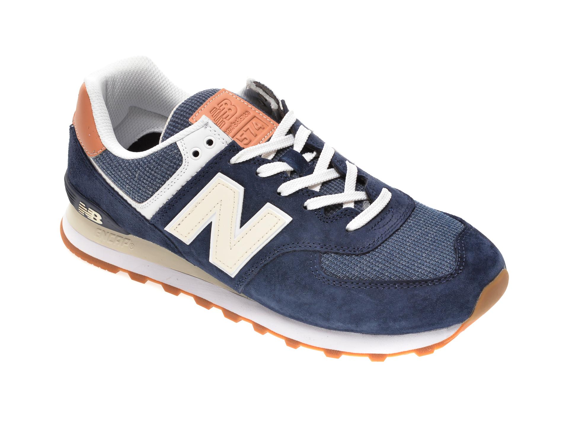 Pantofi sport NEW BALANCE bleumarin, ML574, din material textil si piele intoarsa imagine otter.ro 2021