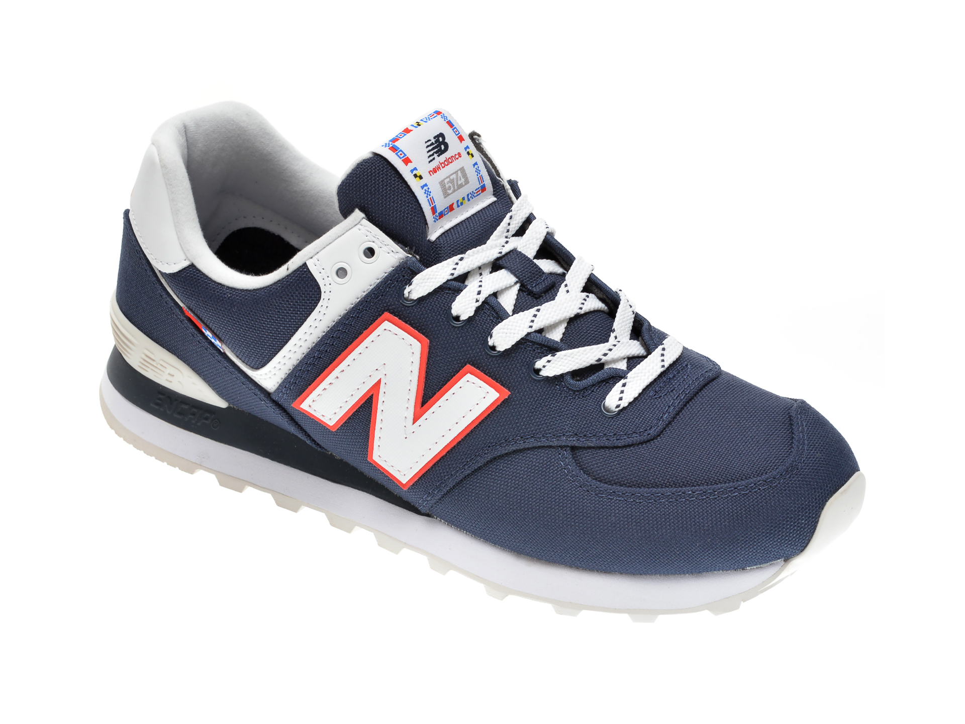 Pantofi sport NEW BALANCE bleumarin, ML574, din material textil imagine