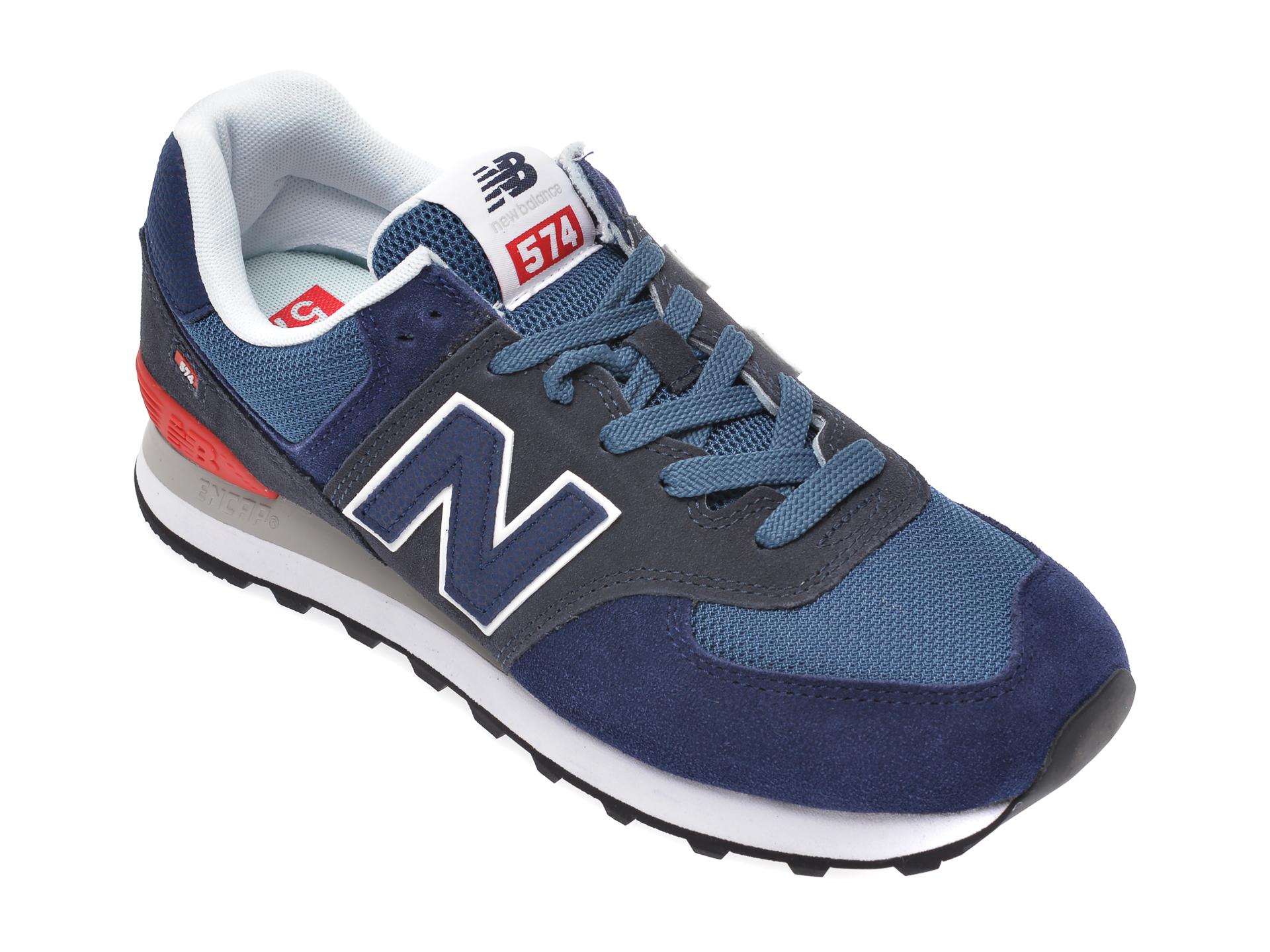 Pantofi sport NEW BALANCE bleumarin, ML574, din piele intoarsa si material textil New