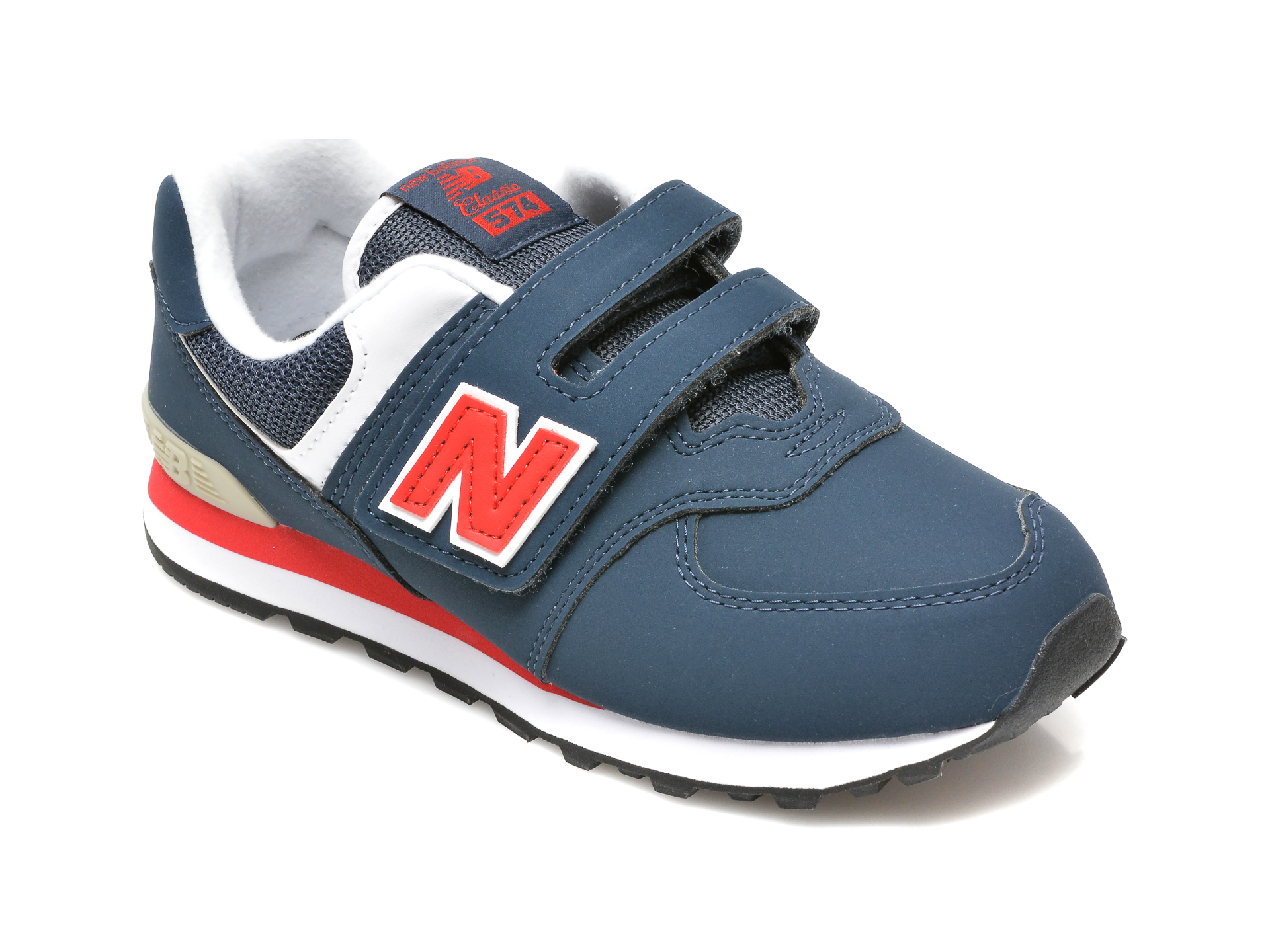 Pantofi sport NEW BALANCE bleumarin, PV574, din material textil si piele ecologica