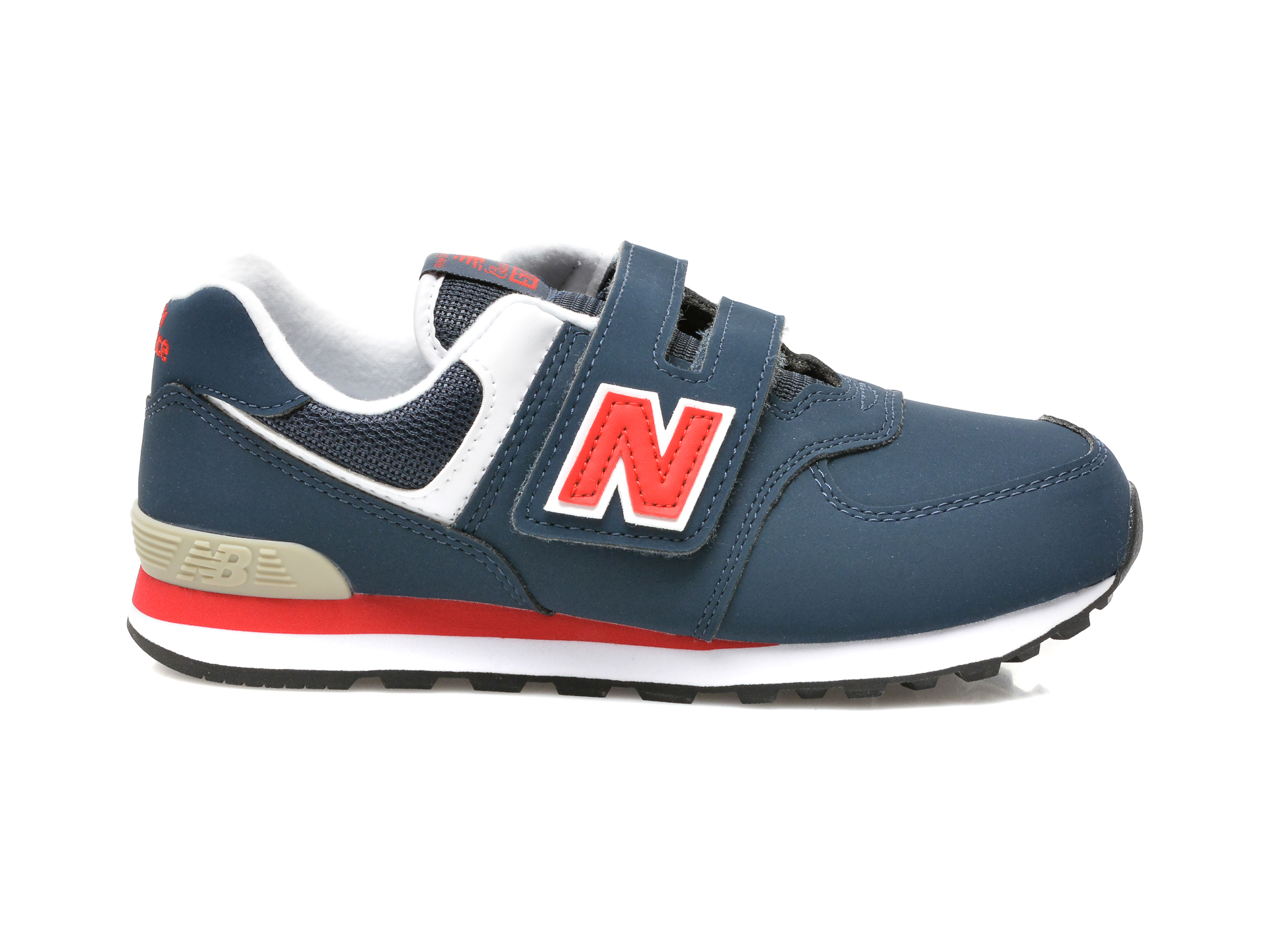 Pantofi sport NEW BALANCE bleumarin, PV574, din material textil si piele ecologica - 1