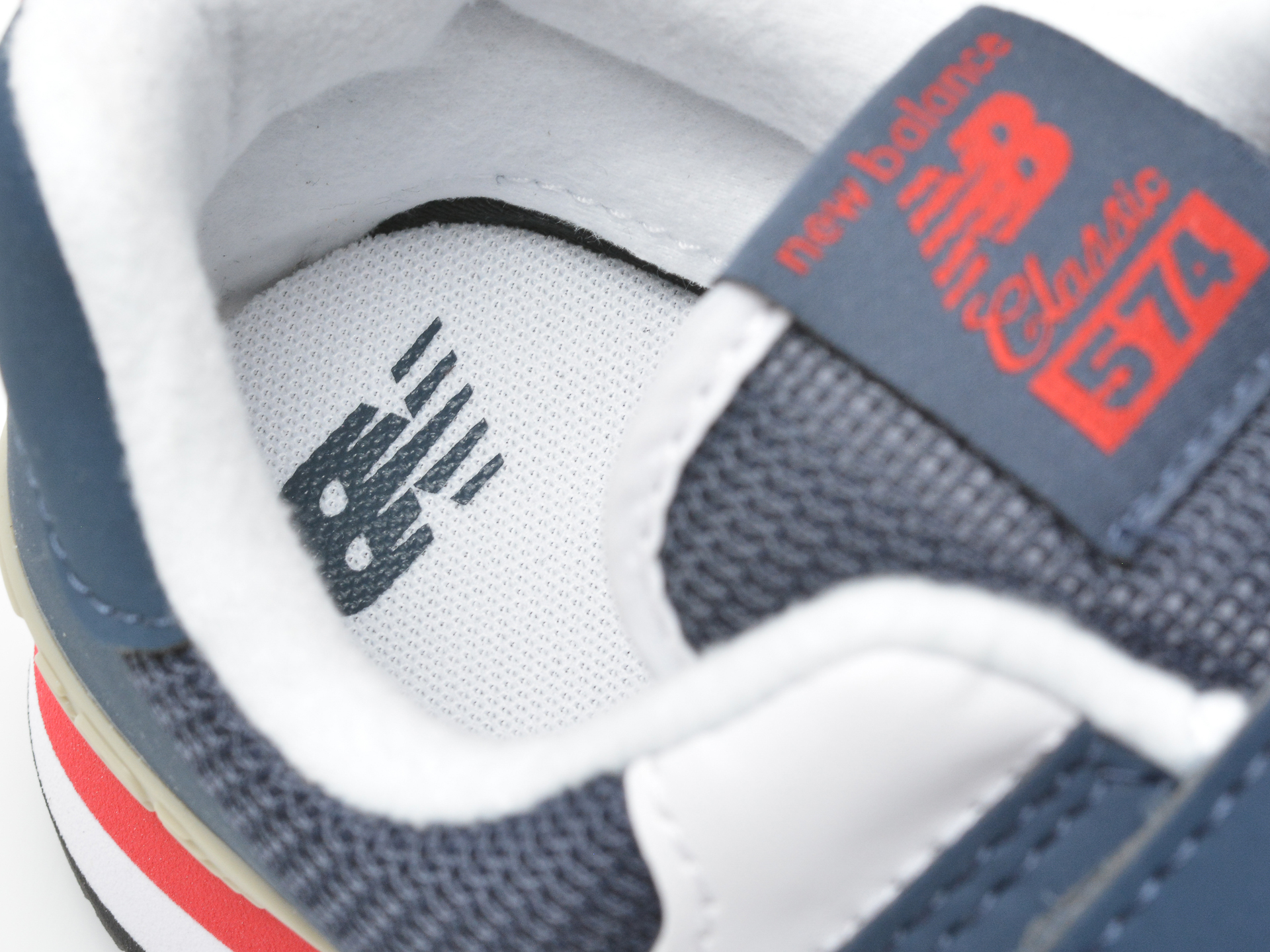 Pantofi sport NEW BALANCE bleumarin, PV574, din material textil si piele ecologica - 3