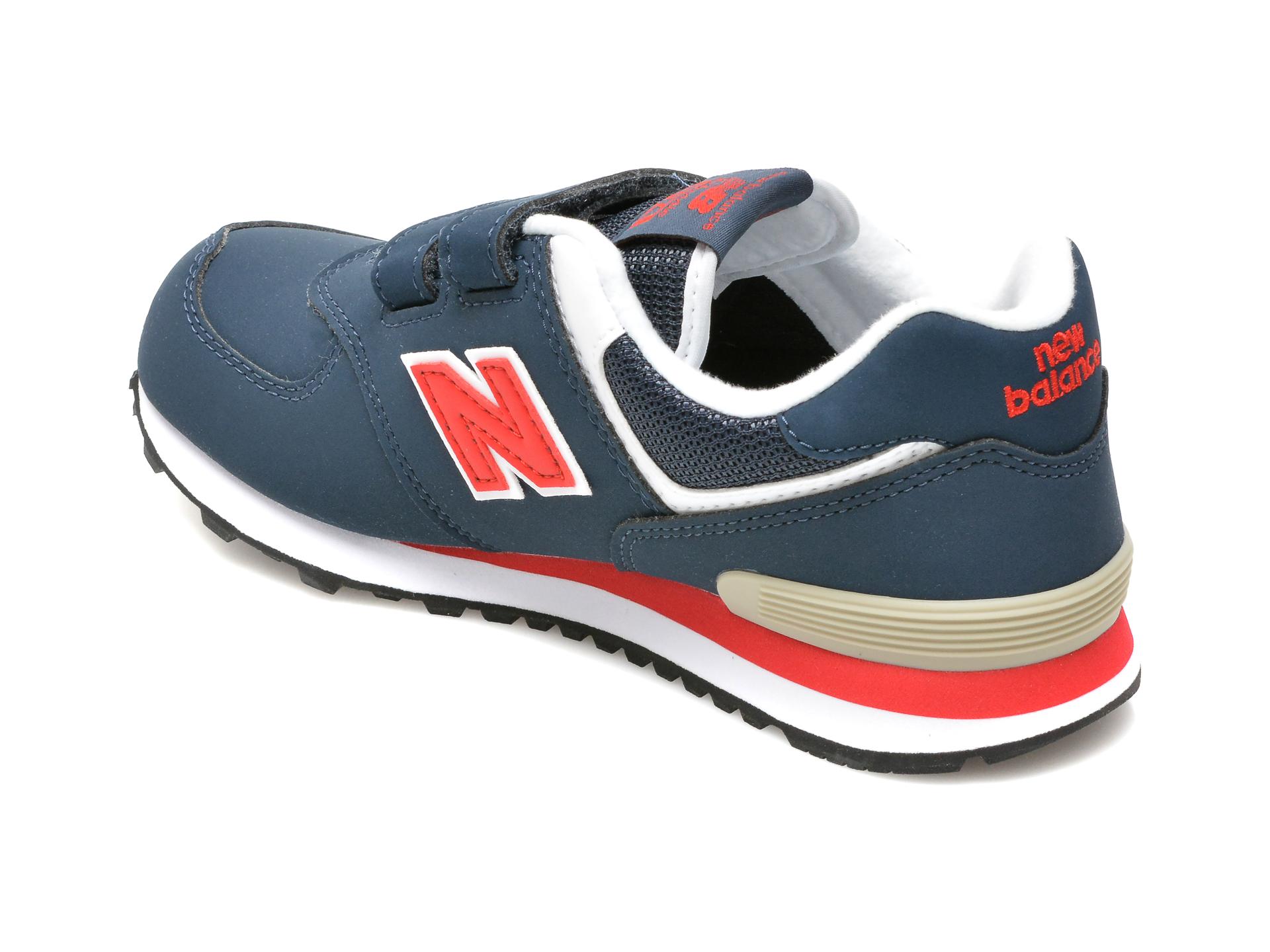 Pantofi sport NEW BALANCE bleumarin, PV574, din material textil si piele ecologica - 5