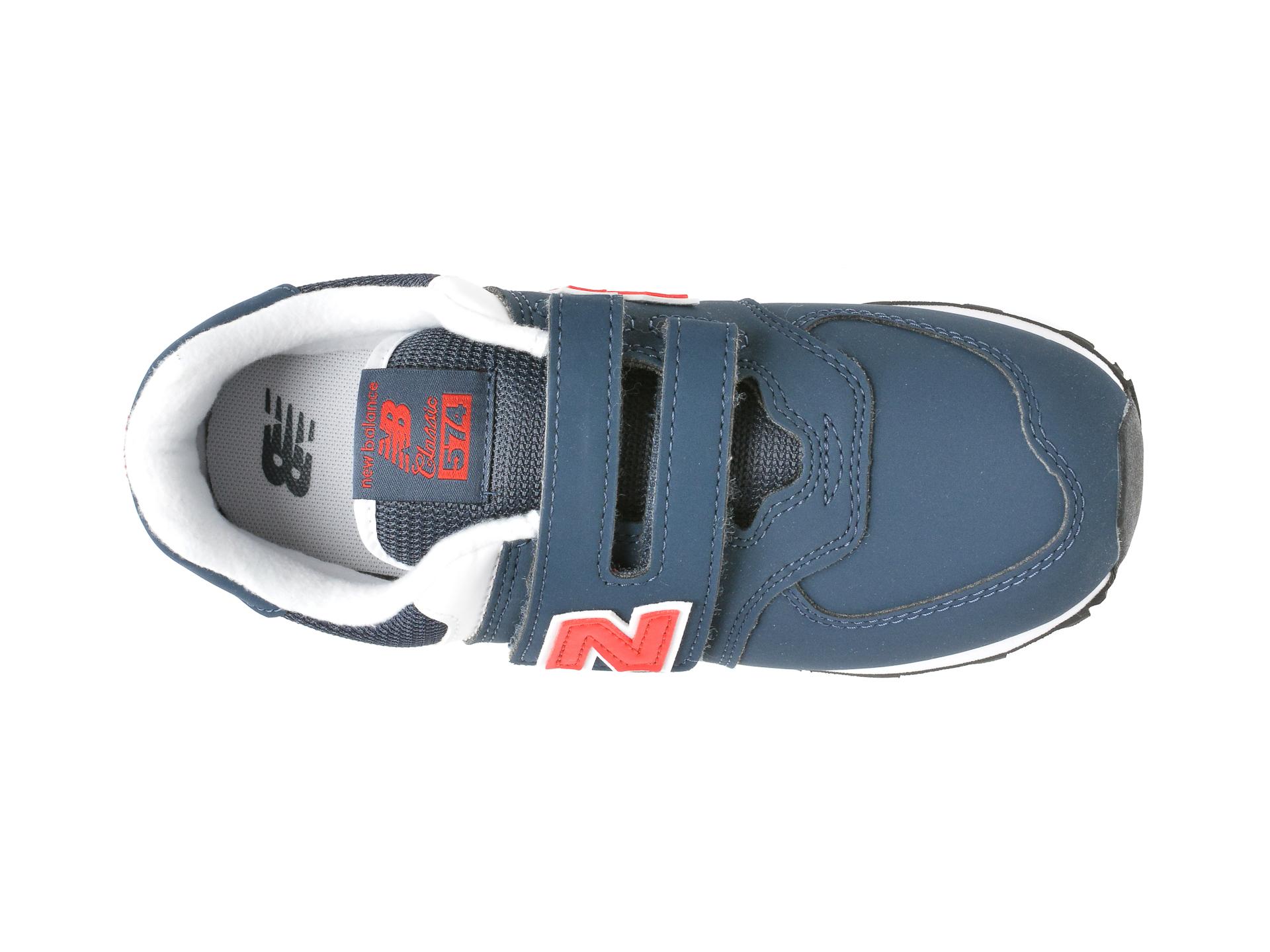 Pantofi sport NEW BALANCE bleumarin, PV574, din material textil si piele ecologica - 6