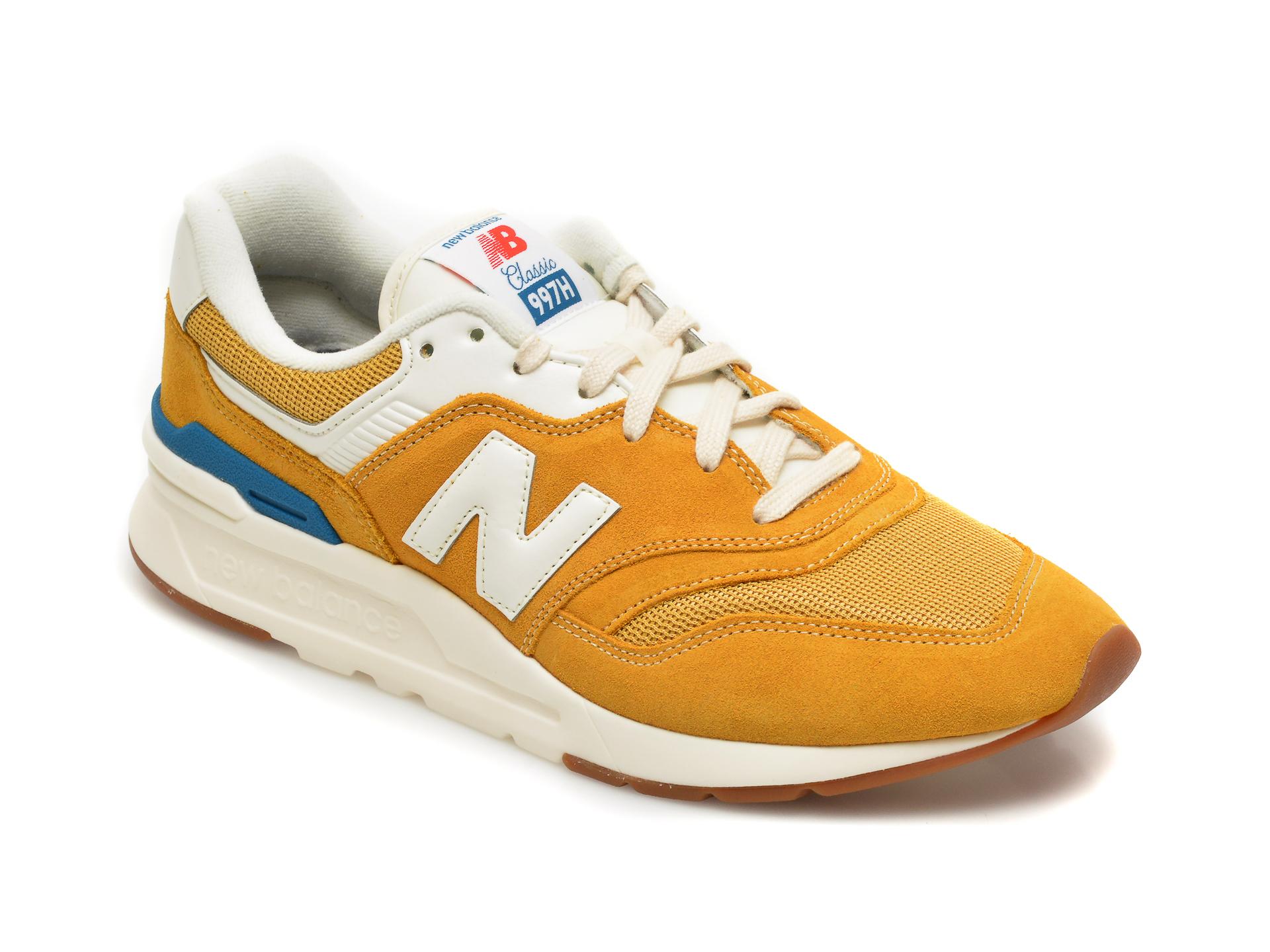 Pantofi sport NEW BALANCE galbeni, CM997, din piele intoarsa imagine