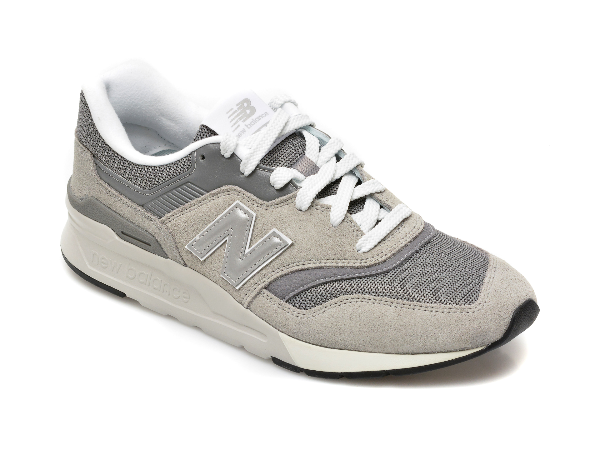 Pantofi sport NEW BALANCE gri, CM997, din material textil si piele intoarsa imagine