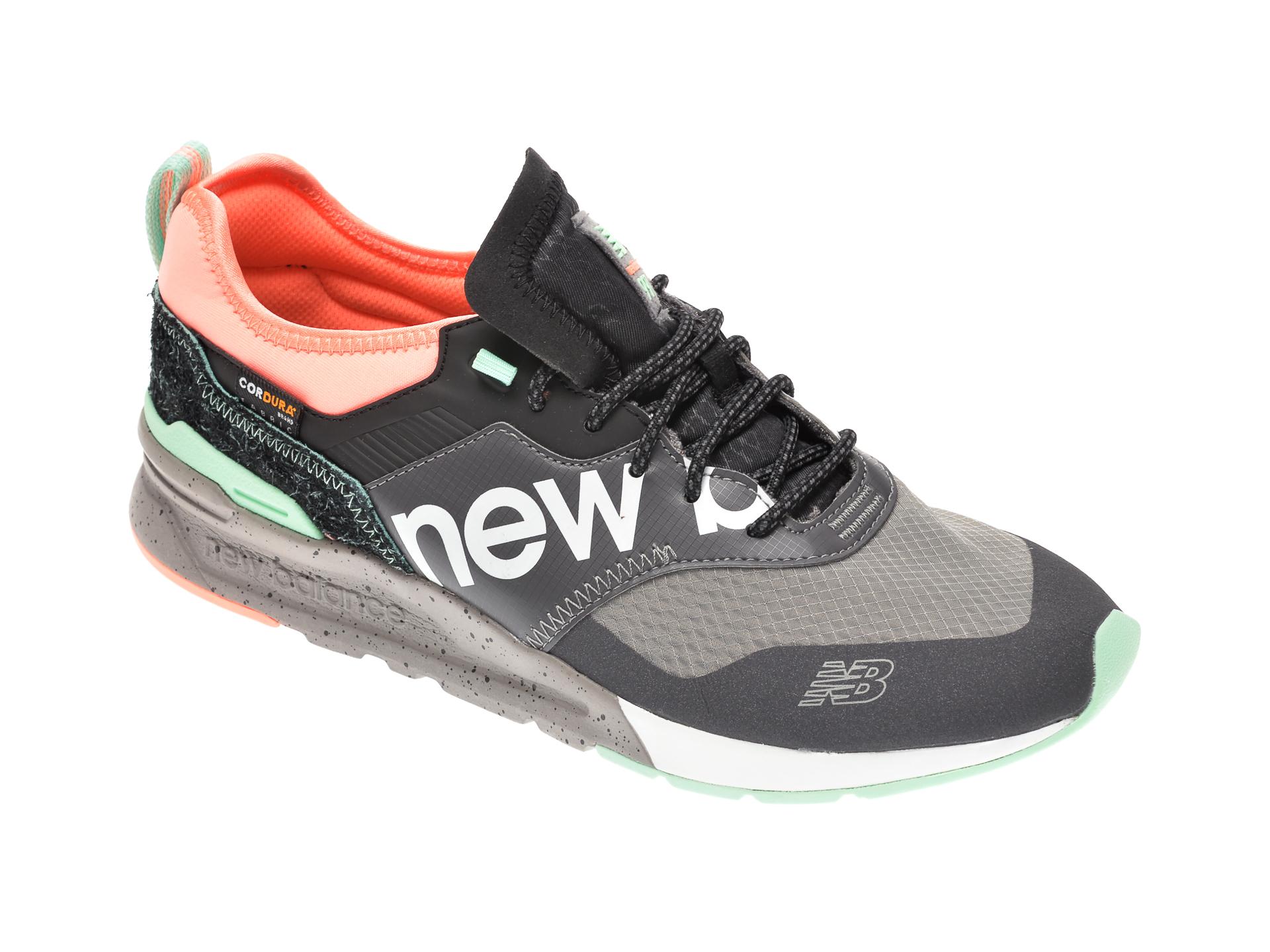 Pantofi sport NEW BALANCE gri, CMT997, din material textil si piele ecologica New
