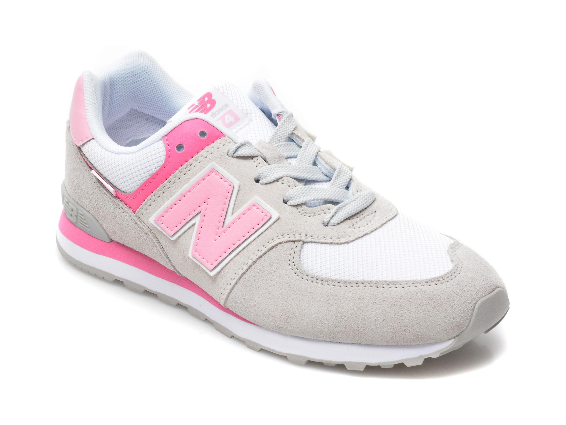 Pantofi sport NEW BALANCE gri, GC574, din material textil si piele naturala imagine otter.ro 2021