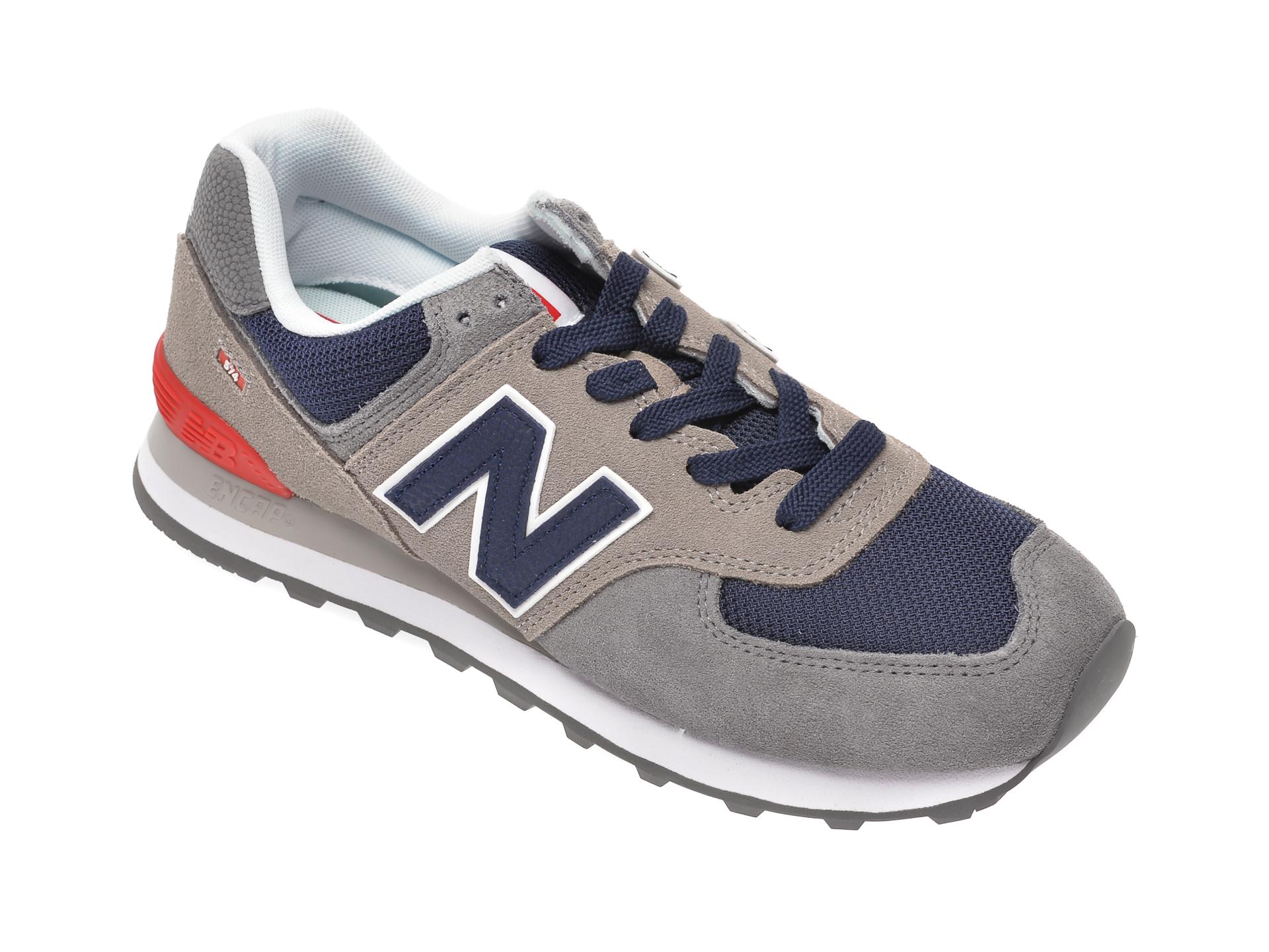 Pantofi sport NEW BALANCE gri, ML574, din material textil si piele intoarsa imagine otter.ro