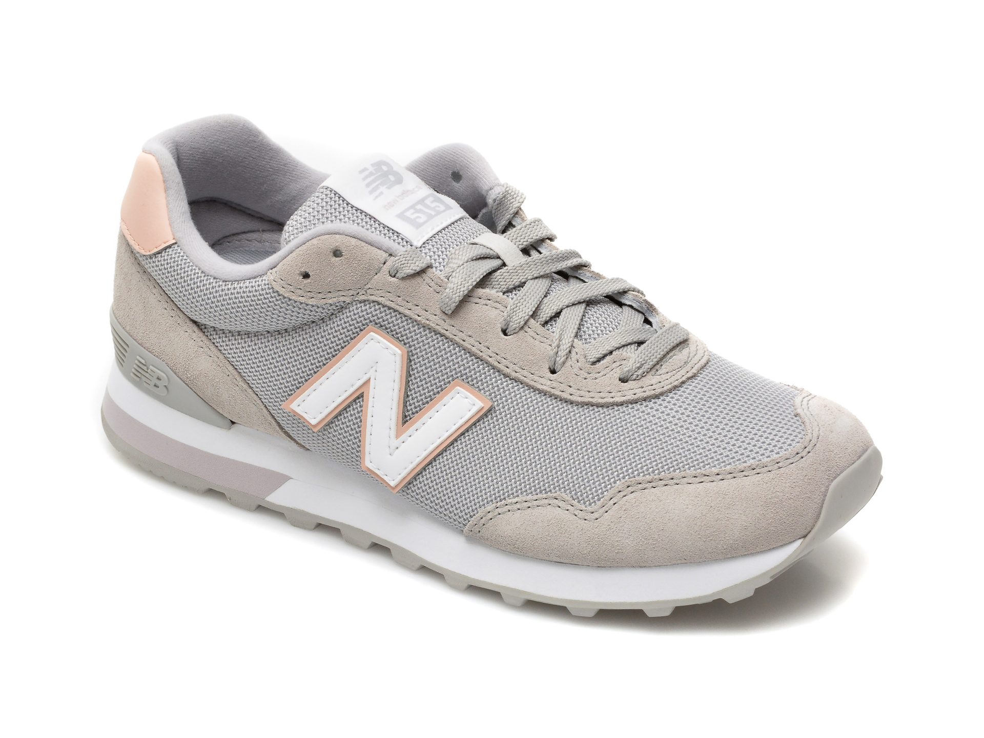 Pantofi sport NEW BALANCE gri, WL515, din material textil si piele ecologica imagine otter.ro