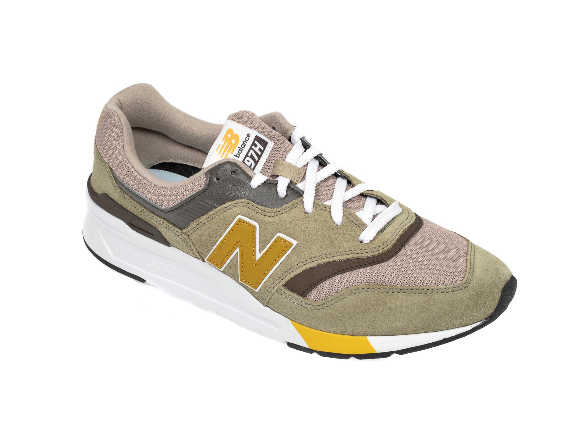 Pantofi sport NEW BALANCE kaki, CM997, din material textil si piele intoarsa imagine