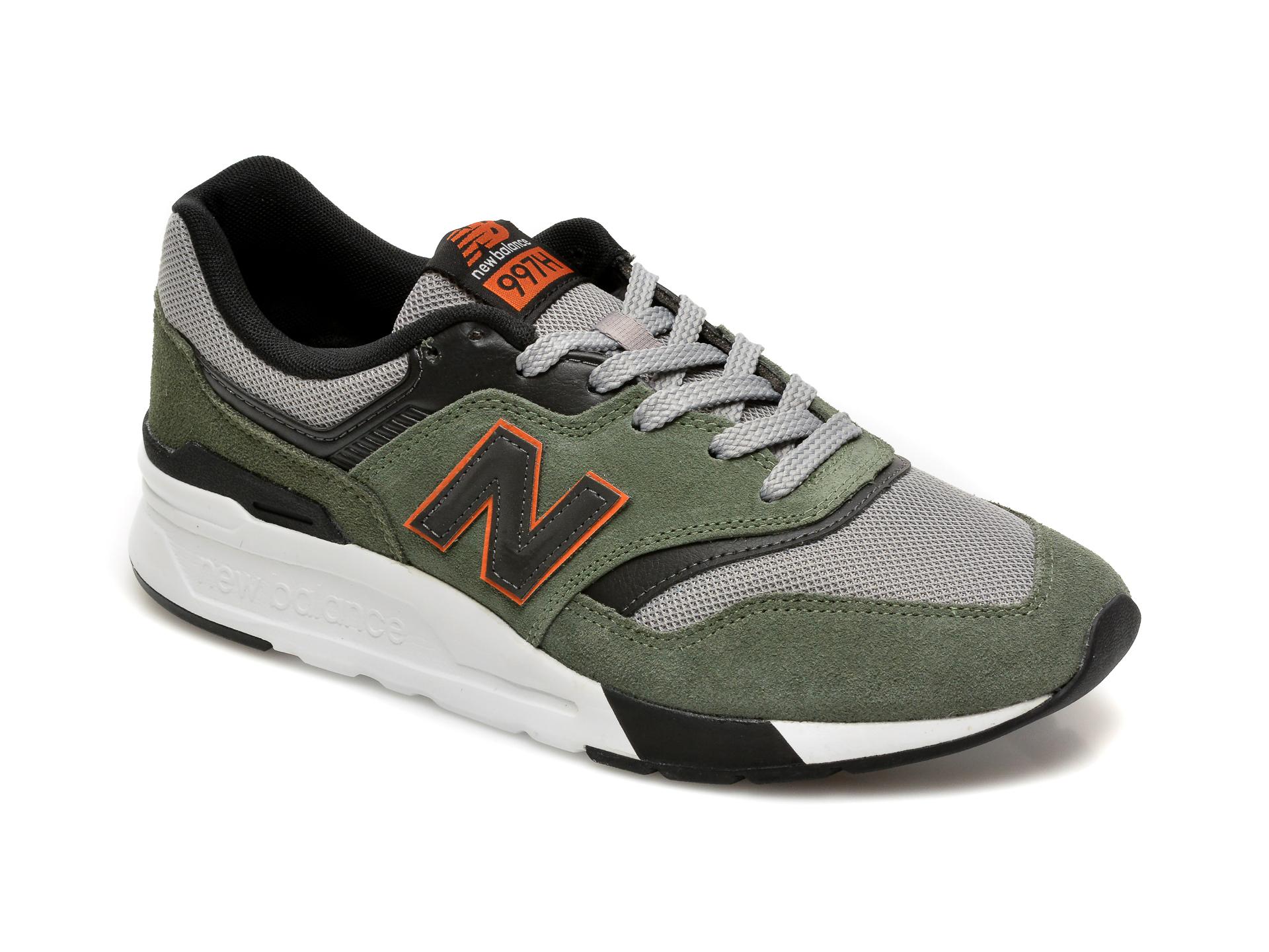 Pantofi sport NEW BALANCE kaki, CM997, din material textil imagine