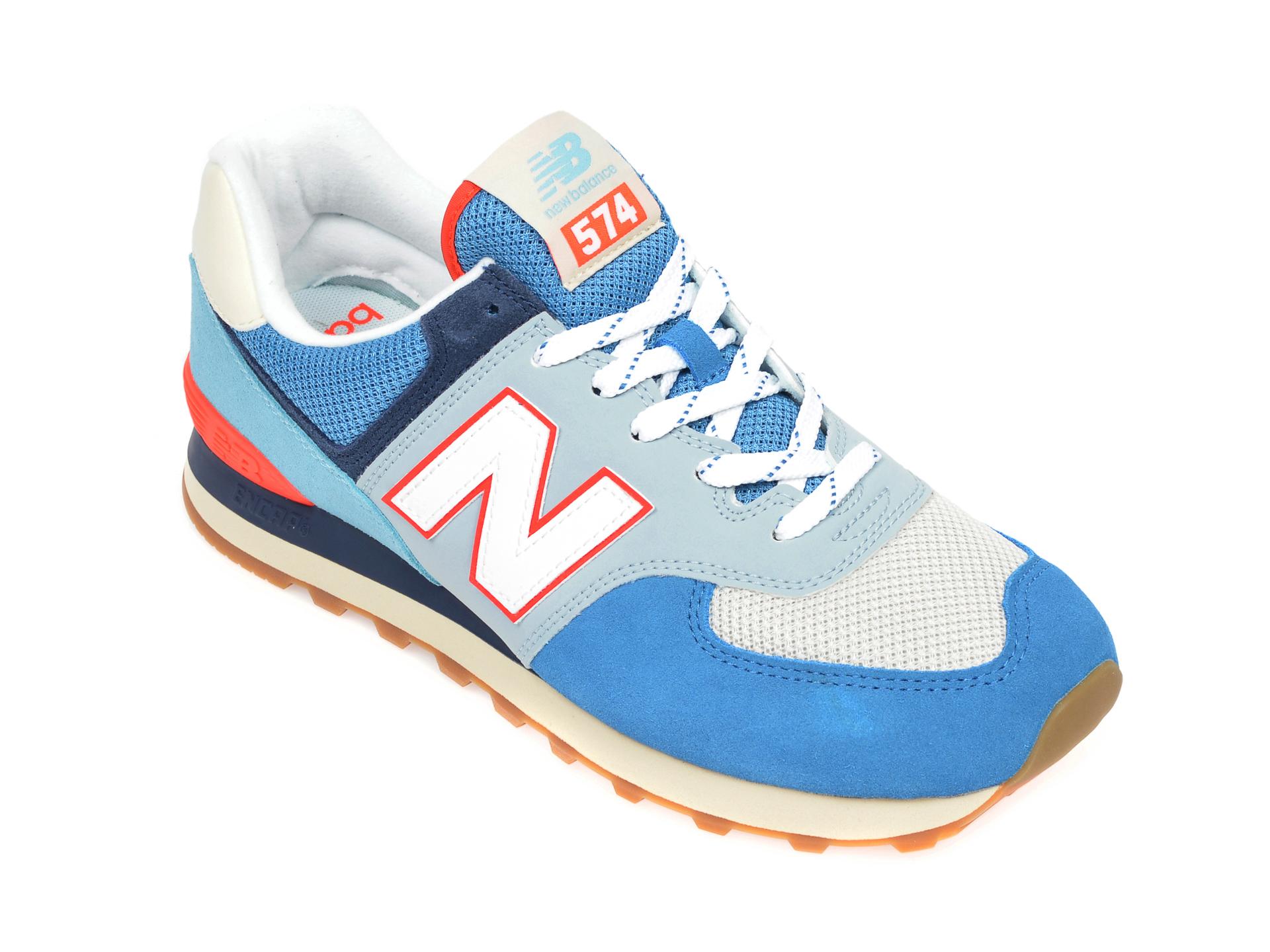 Pantofi sport NEW BALANCE multicolor, ML574, din material textil si piele intoarsa imagine