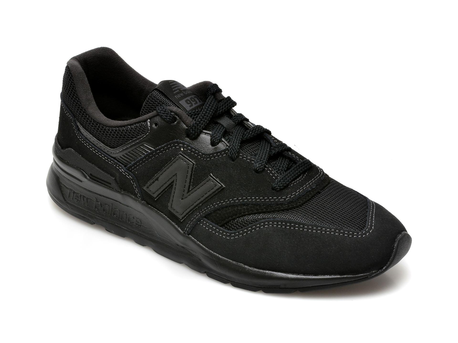 Pantofi sport NEW BALANCE negri, CM997, din material textil si piele intoarsa imagine