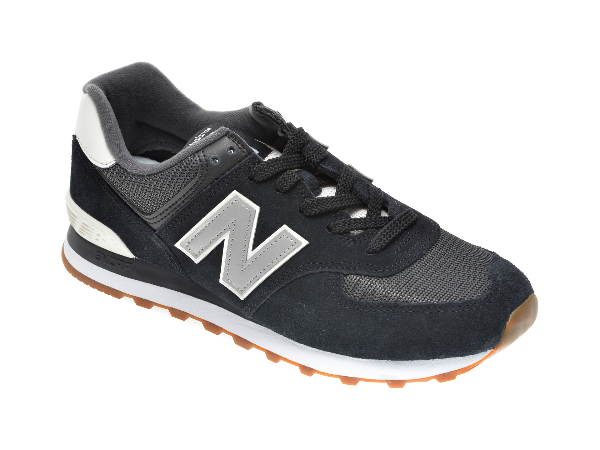 Pantofi sport NEW BALANCE negri, ML574, din material textil imagine