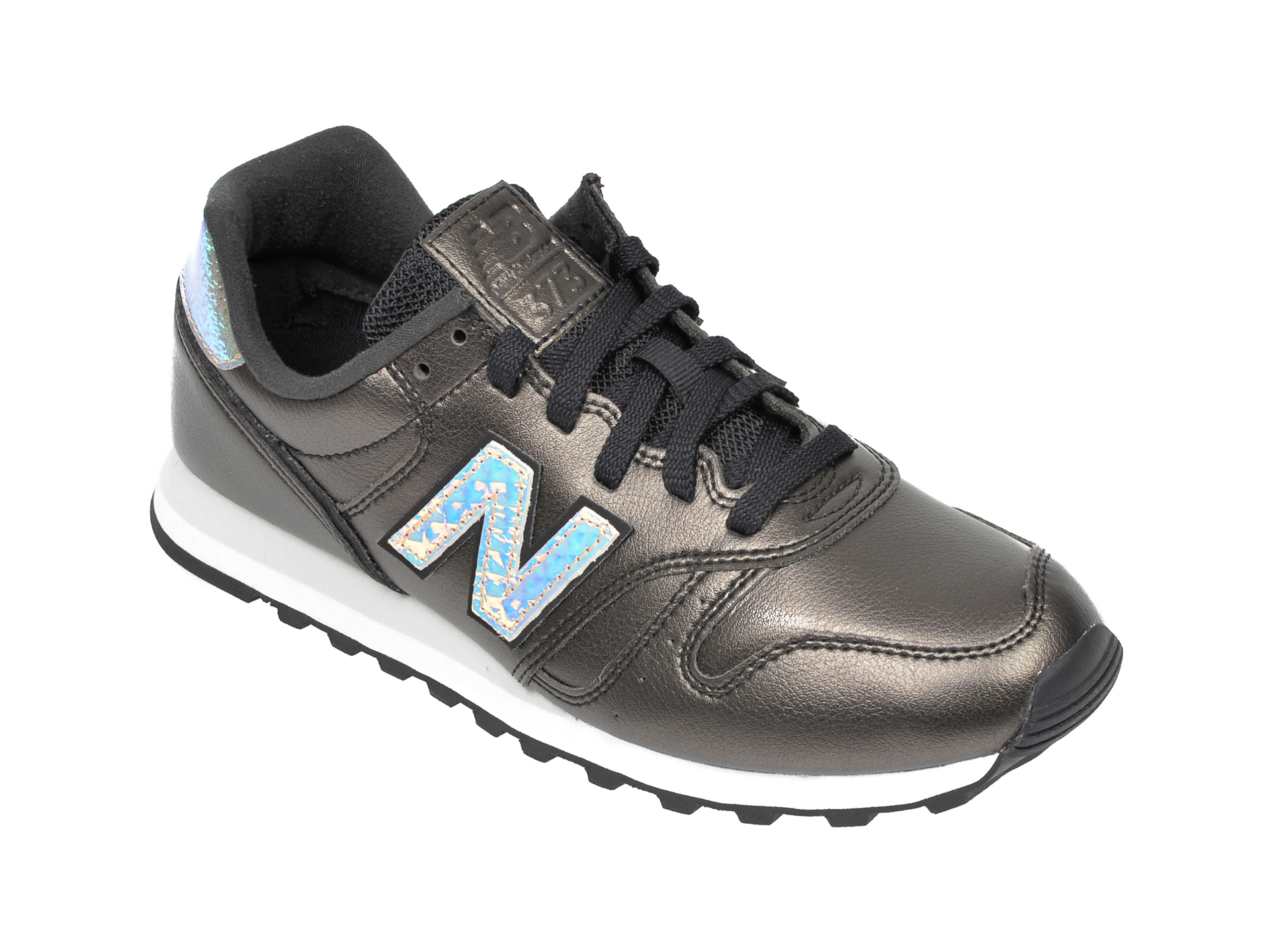 Pantofi sport NEW BALANCE negri, WL373, din piele ecologica