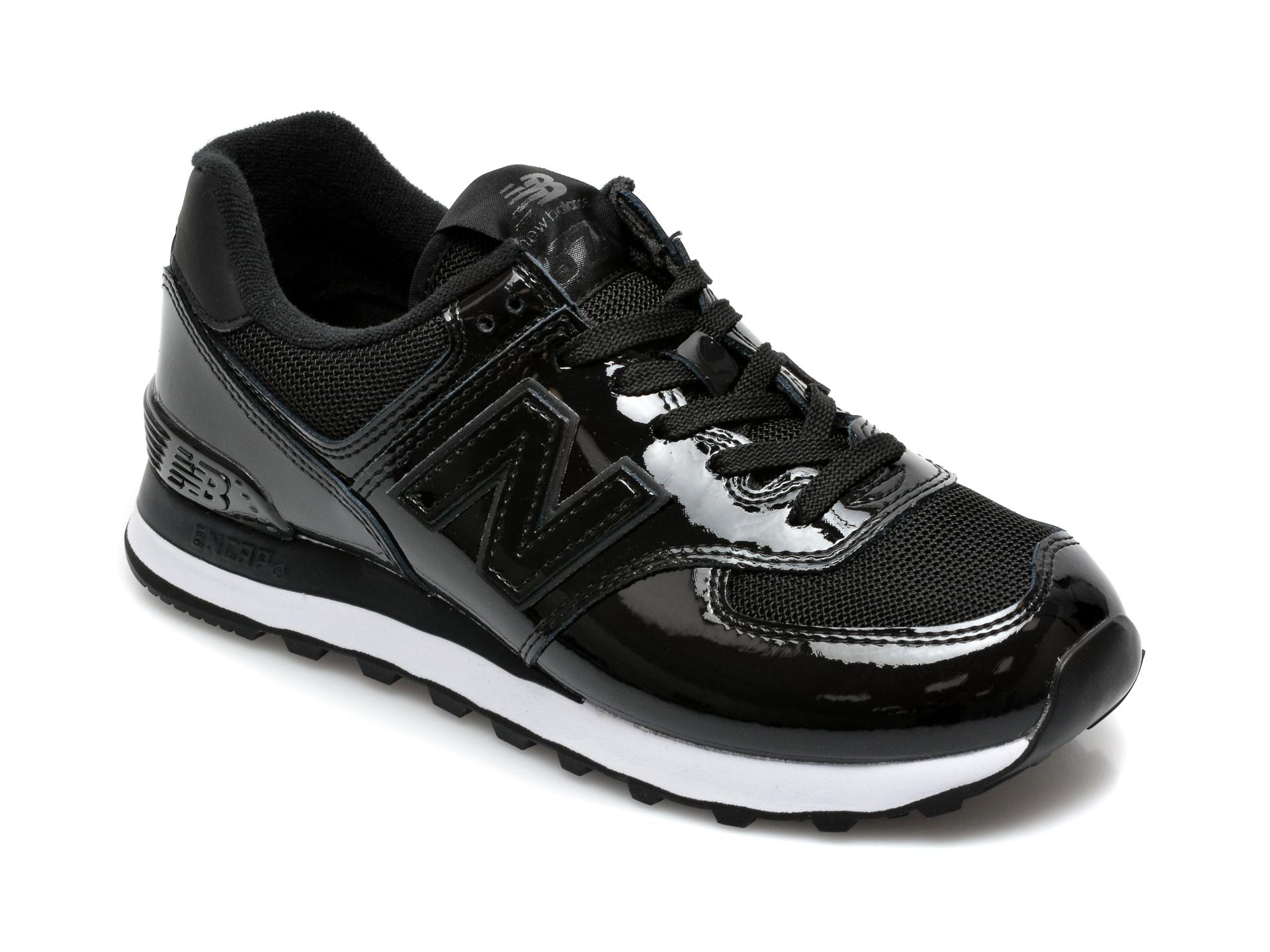 Pantofi sport NEW BALANCE negri, WL574, din material textil si piele naturala imagine otter.ro 2021