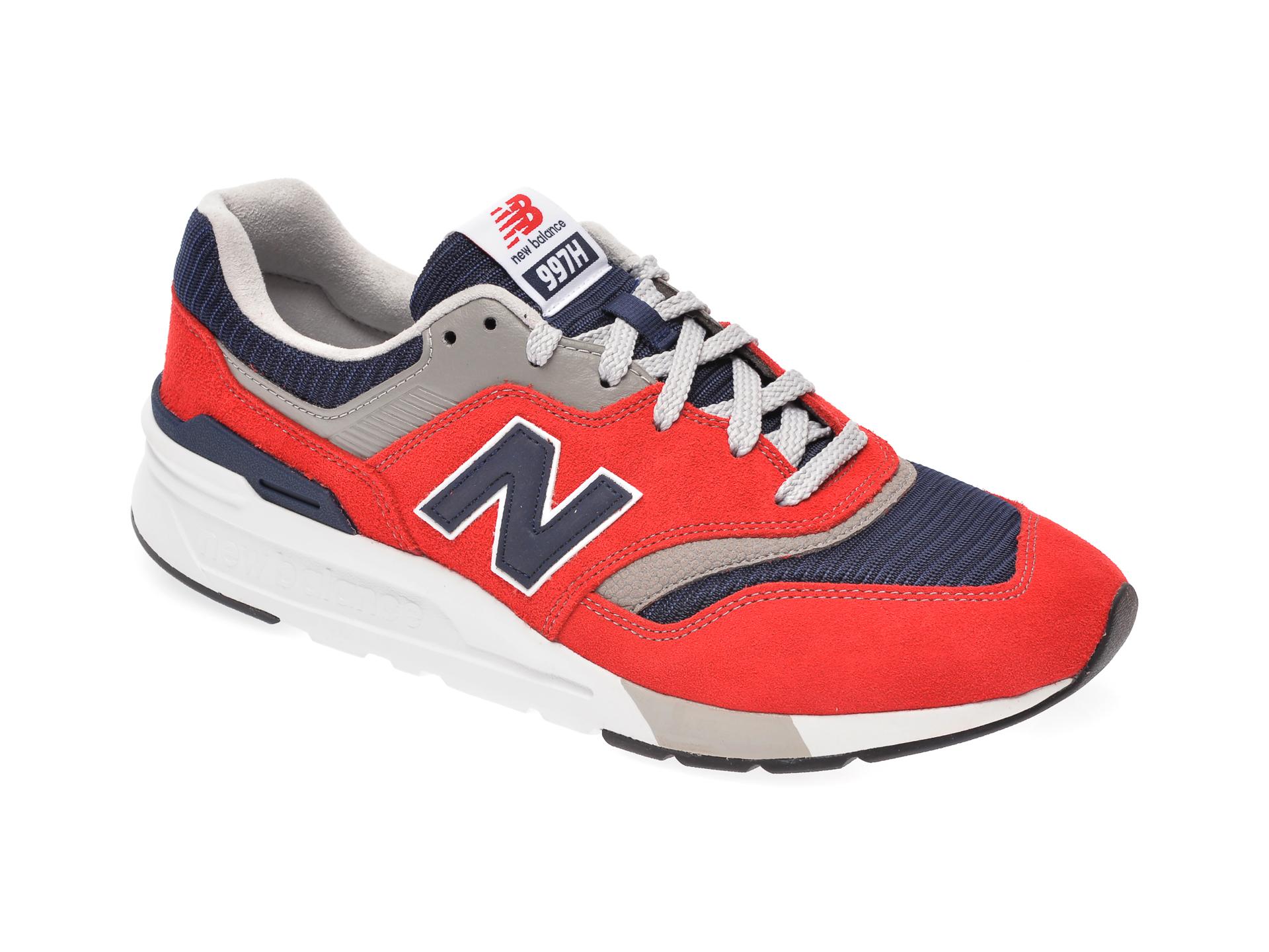 Pantofi sport NEW BALANCE rosii, CM997, din material textil si piele intoarsa imagine otter.ro
