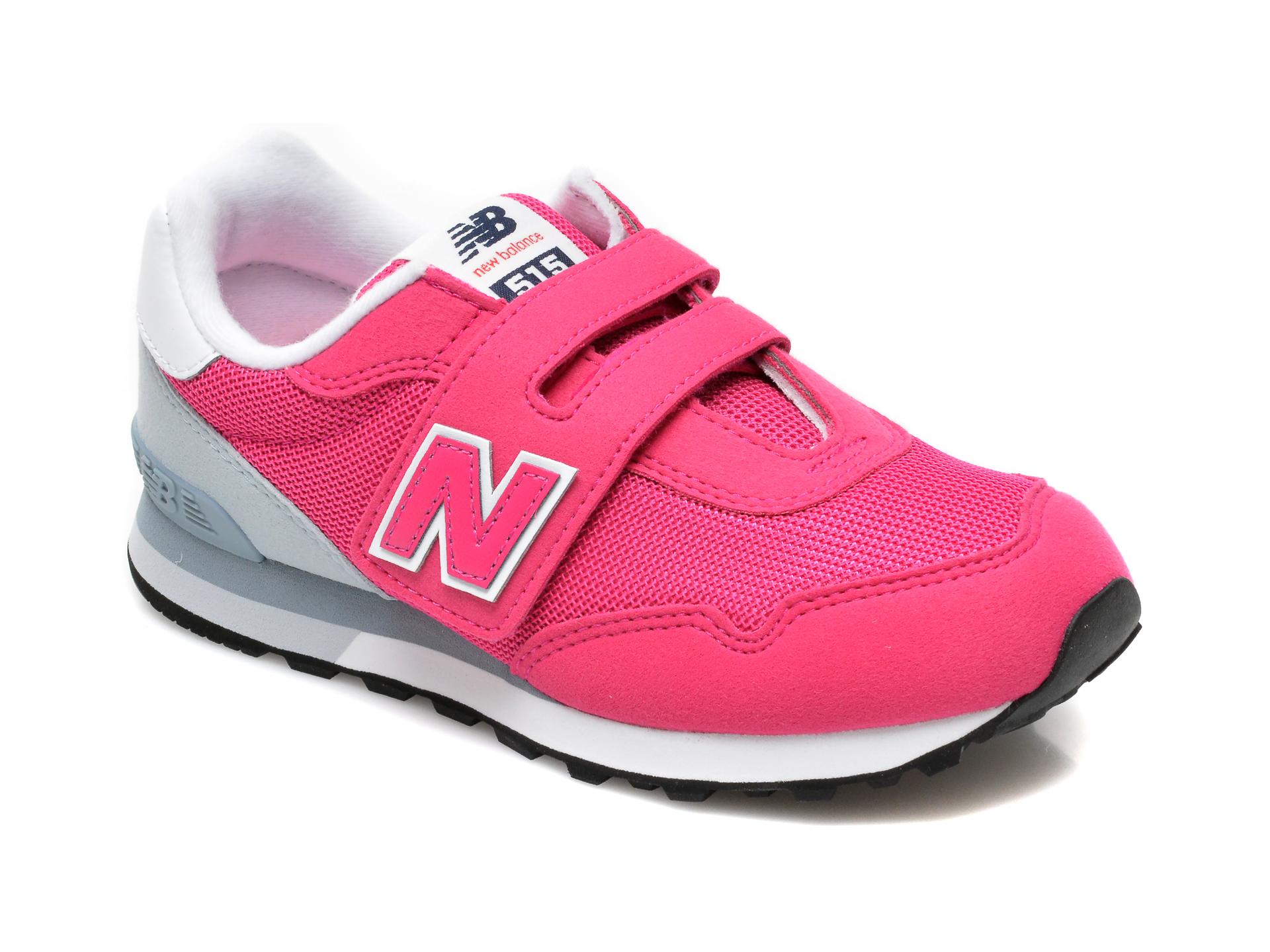 Pantofi sport NEW BALANCE roz, YV515, din material textil si piele naturala
