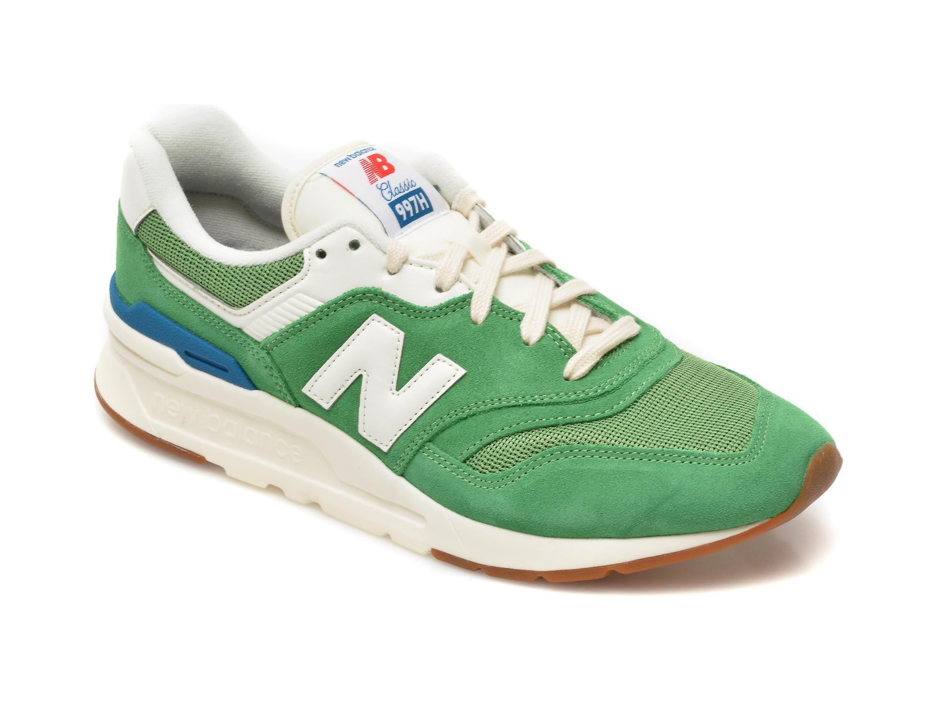 Pantofi sport NEW BALANCE verzi, CM997, din material textil si piele intoarsa imagine