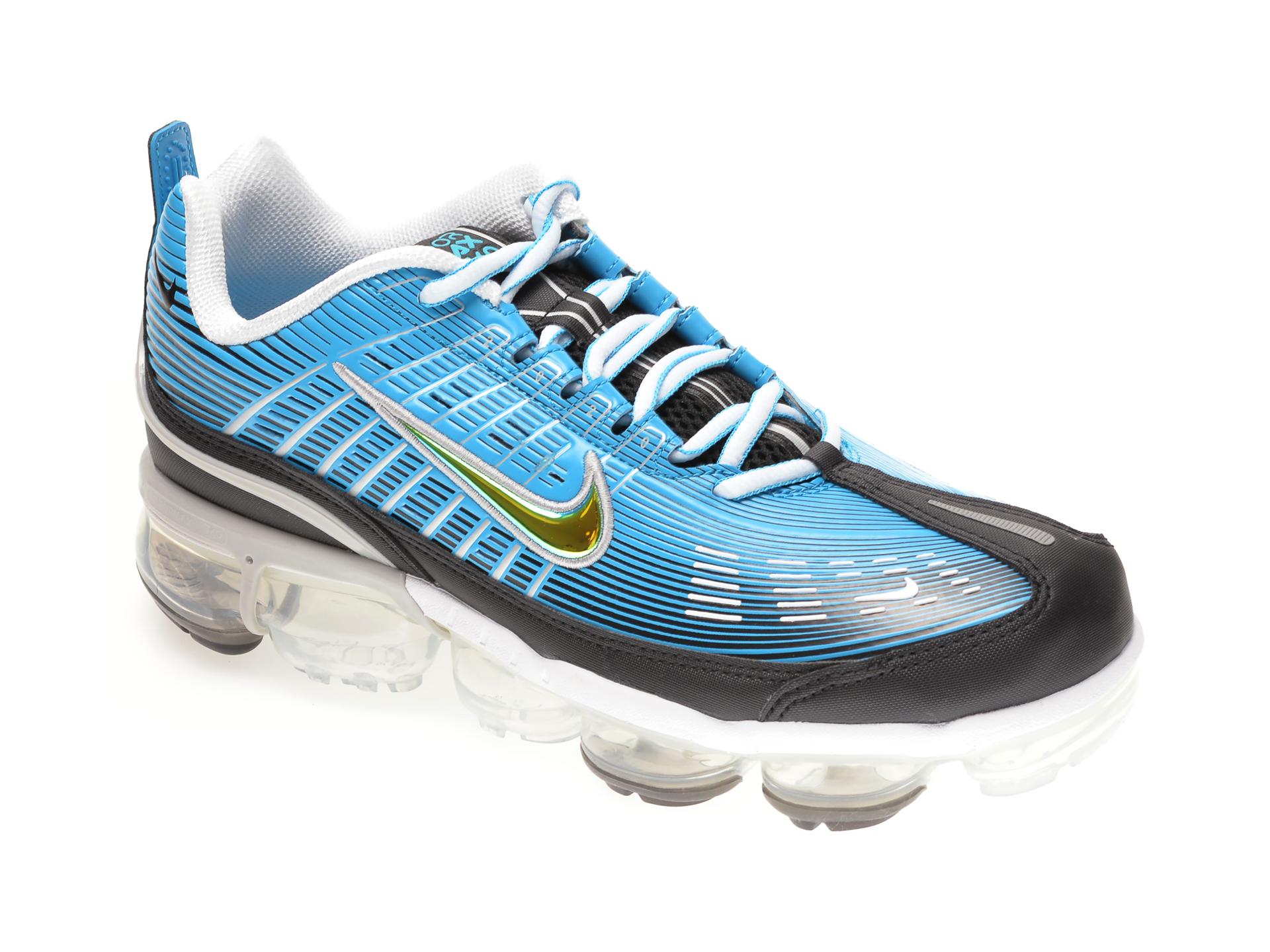 Pantofi sport NIKE albastri, NIKE AIR VAPORMAX 360, din piele ecologica