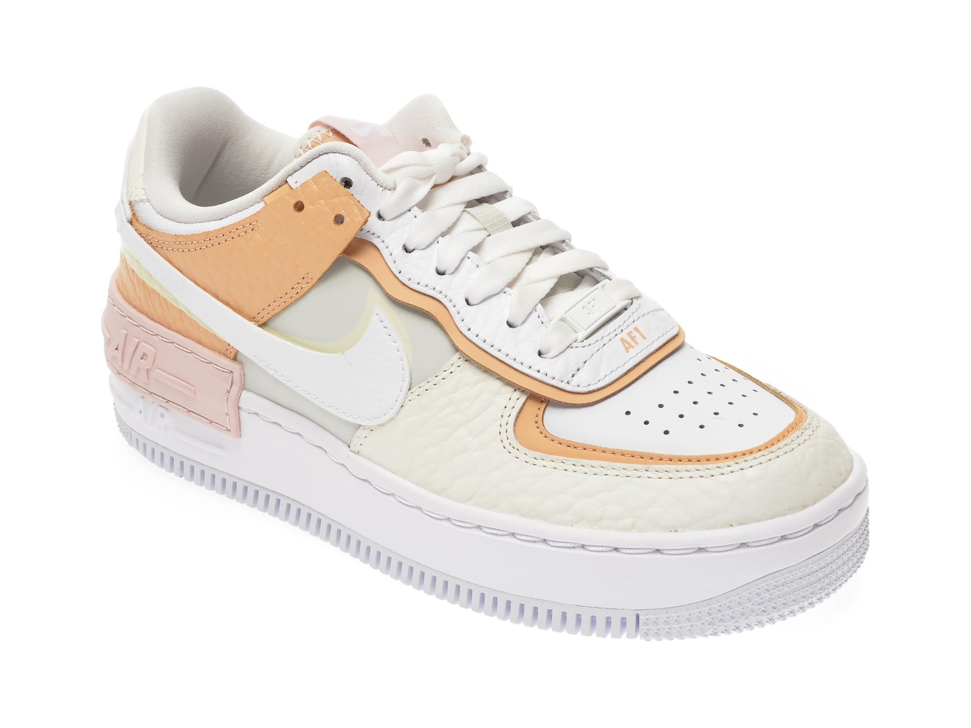 Pantofi sport NIKE albi, Af1 Shadow Se, din piele naturala