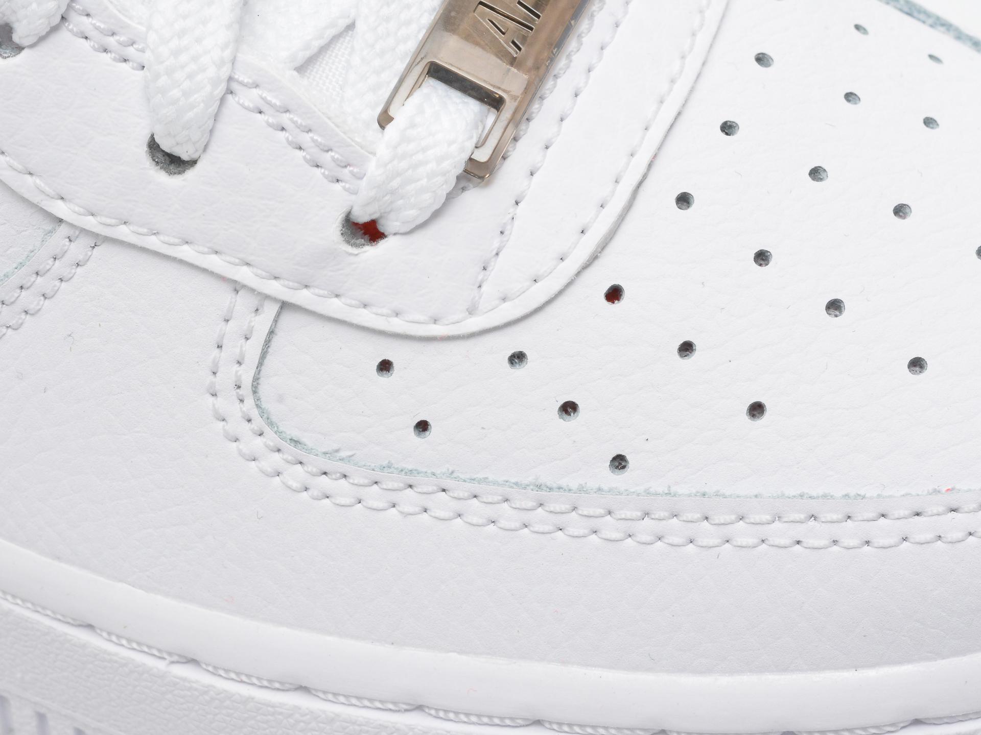 Pantofi sport NIKE albi, AIR FORCE 1 LV8 (GS), din piele naturala - 2